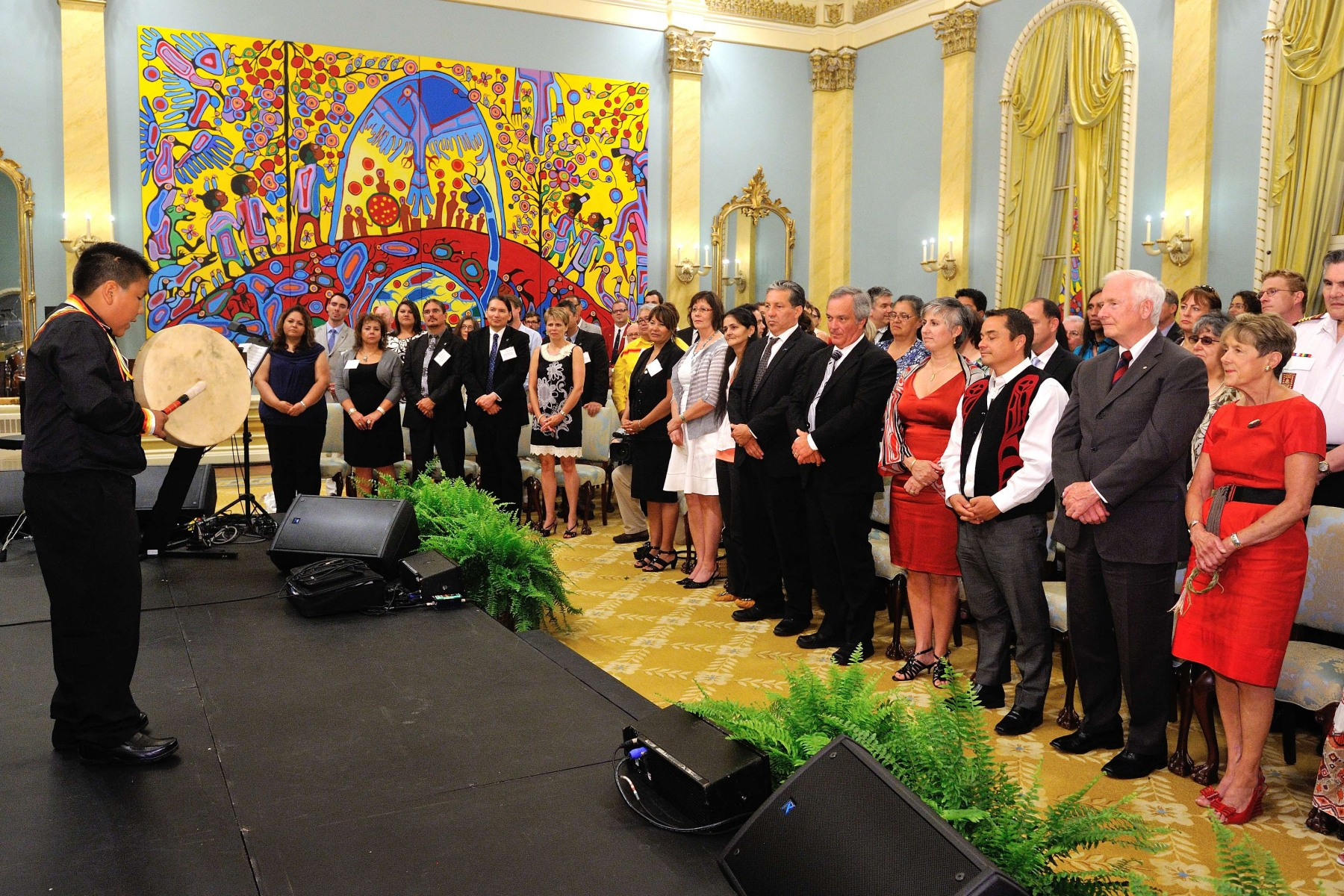 During the evening, Their Excellencies hosted a concert organized in partnership with APTN in celebration of National Aboriginal Day.