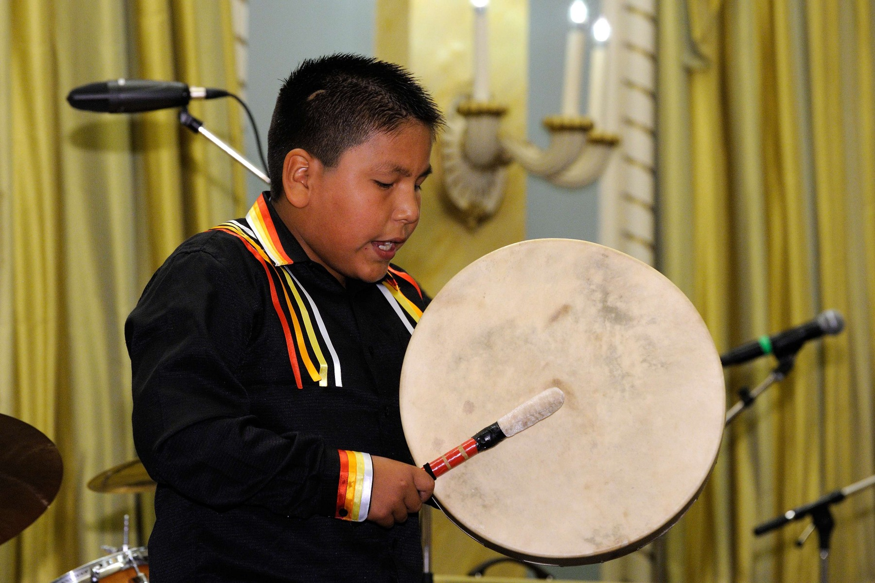 "The very talented 11-year-old singer from Saskatchewan sang ""Bringing People Together."" In 2010, Sebastian performed at the Aboriginal Peoples Choice Awards with Heaven & Briley Waskewitch."