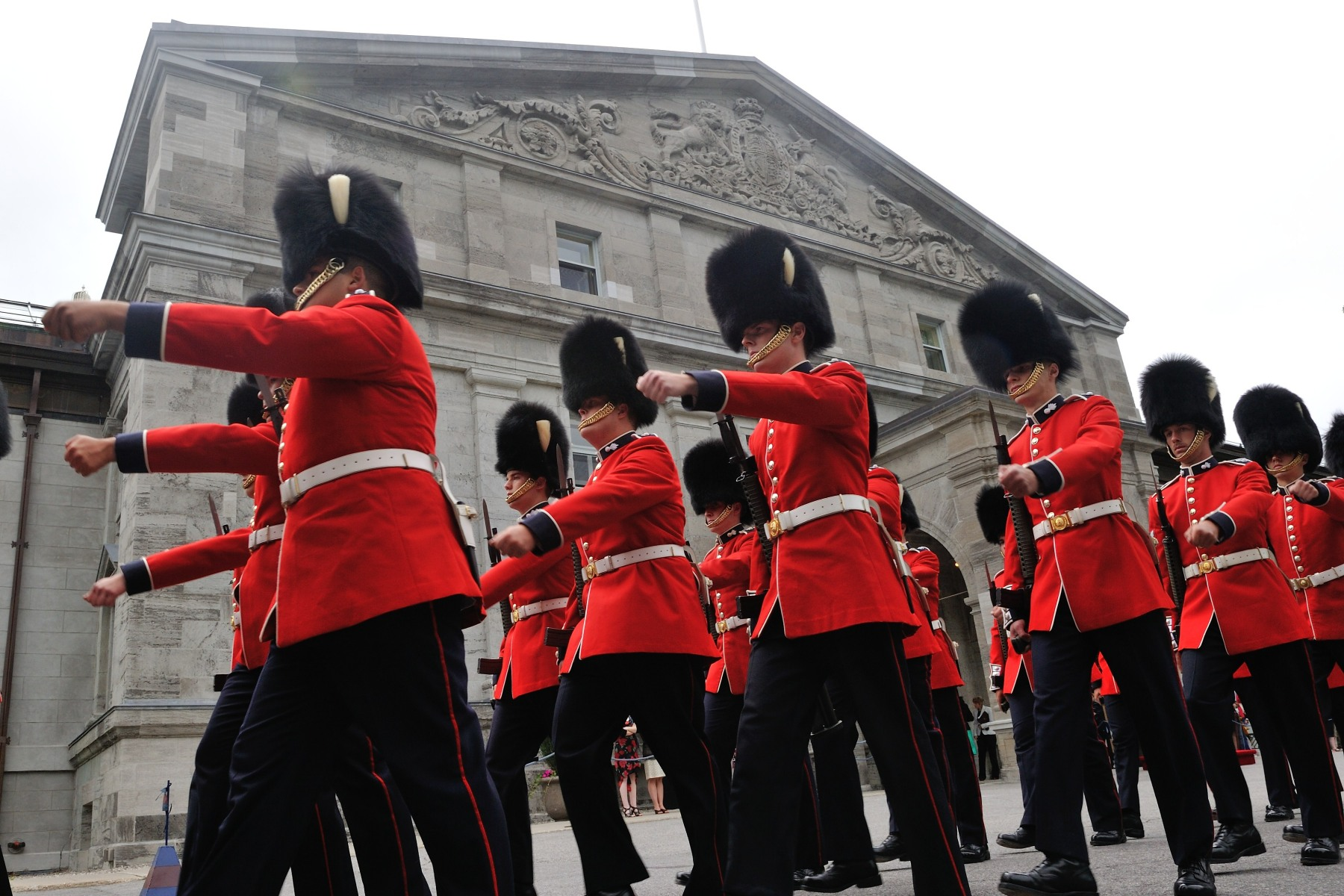 Over the course of the summer, visitors can come to Rideau Hall and witness the pageantry, precision and colour of the Relief of the Sentries, which runs from June 26 to August 26, every hour, on the hour, from 9 a.m. to 5 p.m.