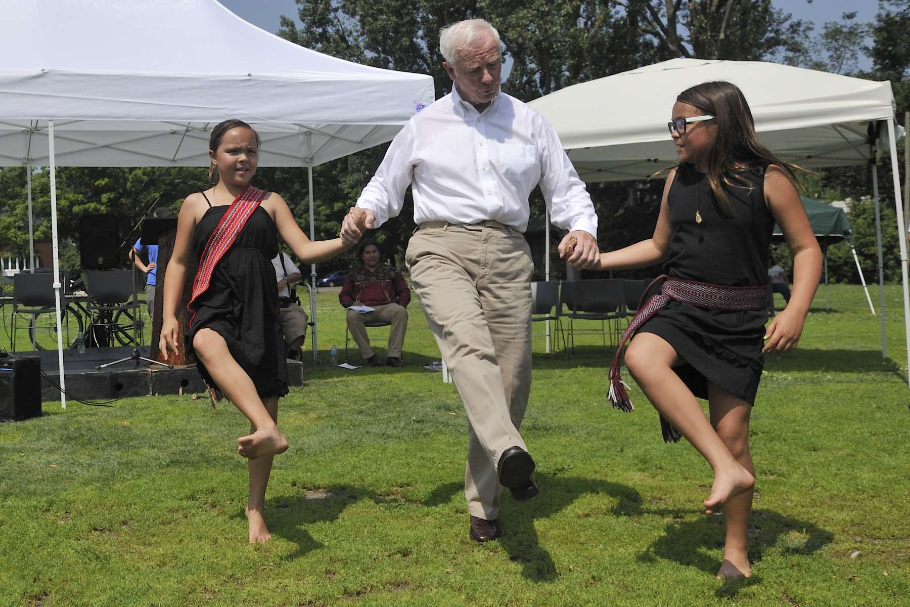The Governor General participated in games and demonstrations. He even learned a few dance steps!