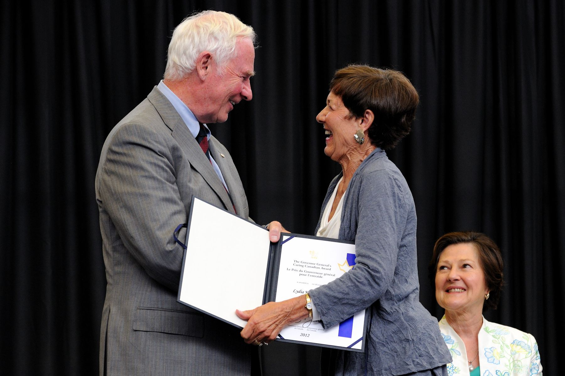 On this occasion, the Governor General also presented the Caring Canadian Award to 10 deserving volunteers from British Columbia. Ms. Lydia Kasianchuk, from Victoria, British Columbia, has contributed her time to a large number of organizations, including Arts Sustainability Victoria, Metchosin International Summer School for the Arts, and the West Coast Children's Choral Society, among others. In 1982, she was one of four founding members of the Victoria chapter of Mothers Against Drunk Driving (MADD). Currently, she provides comfort and support to terminally ill residents of the Victoria Hospice, and serves as a community advisor with the Victoria Foundation.