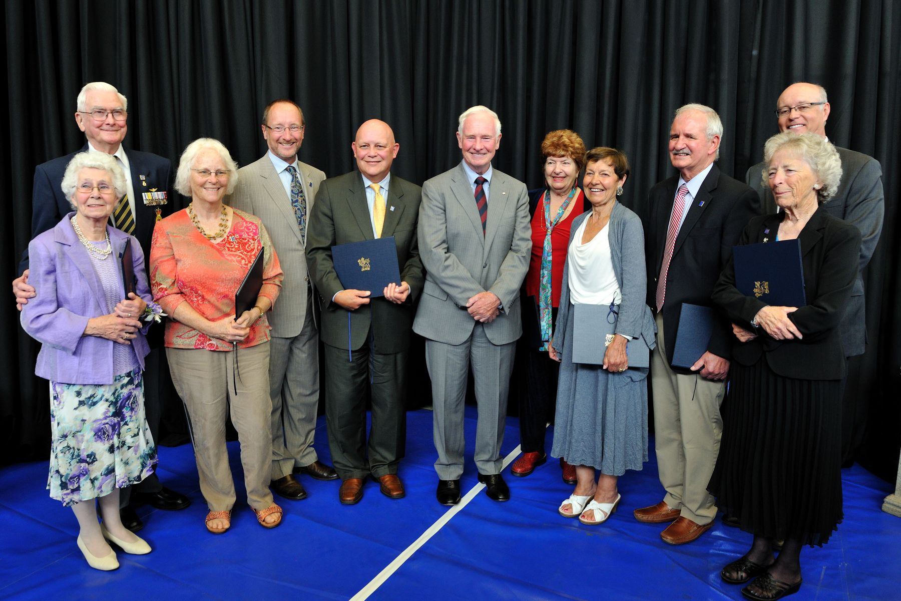His Excellency is pictured with the 10 Caring Canadian Award recipients, all from British Columbia.