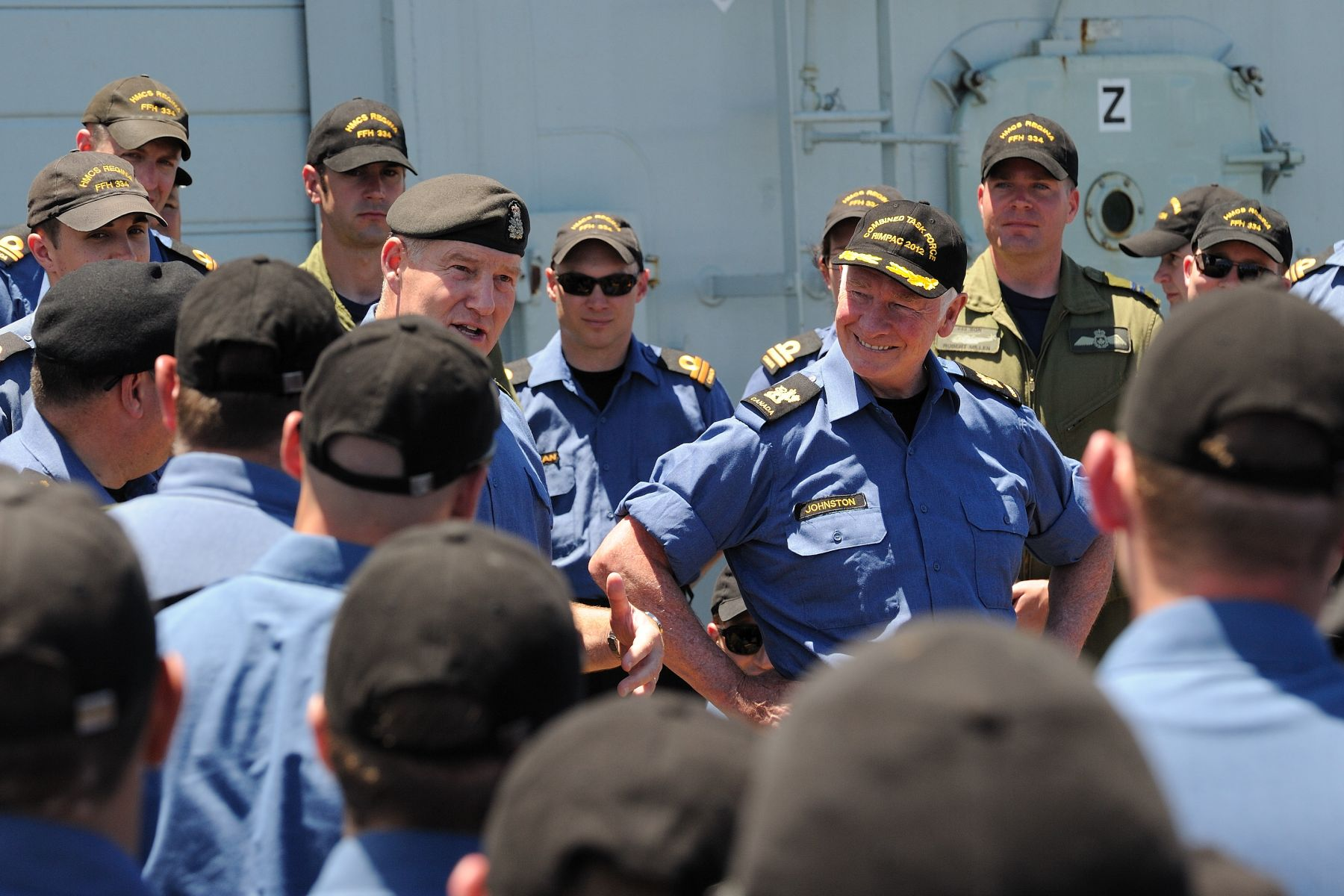 They spent time with Canadian Forces personnel aboard HMCS Regina.