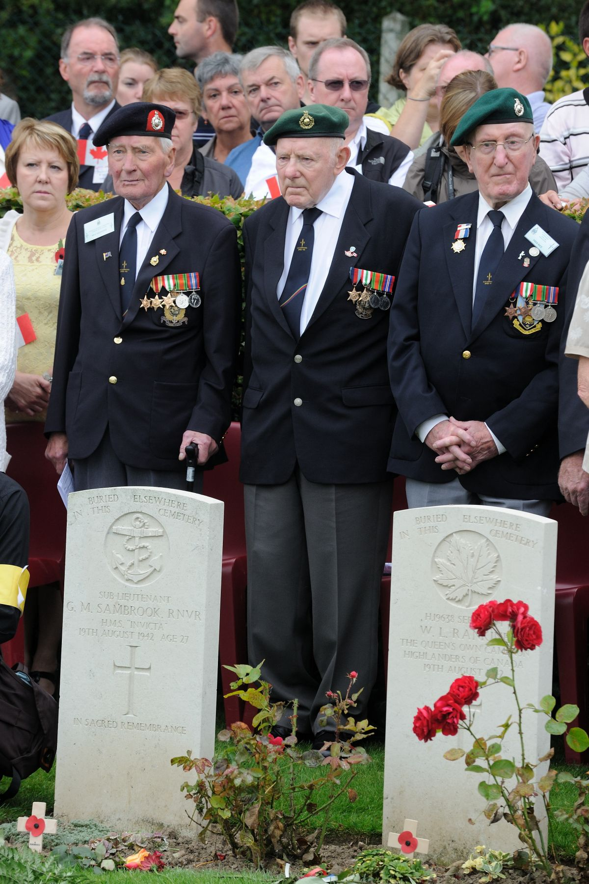 Many Dieppe Raid veterans attended the ceremony.