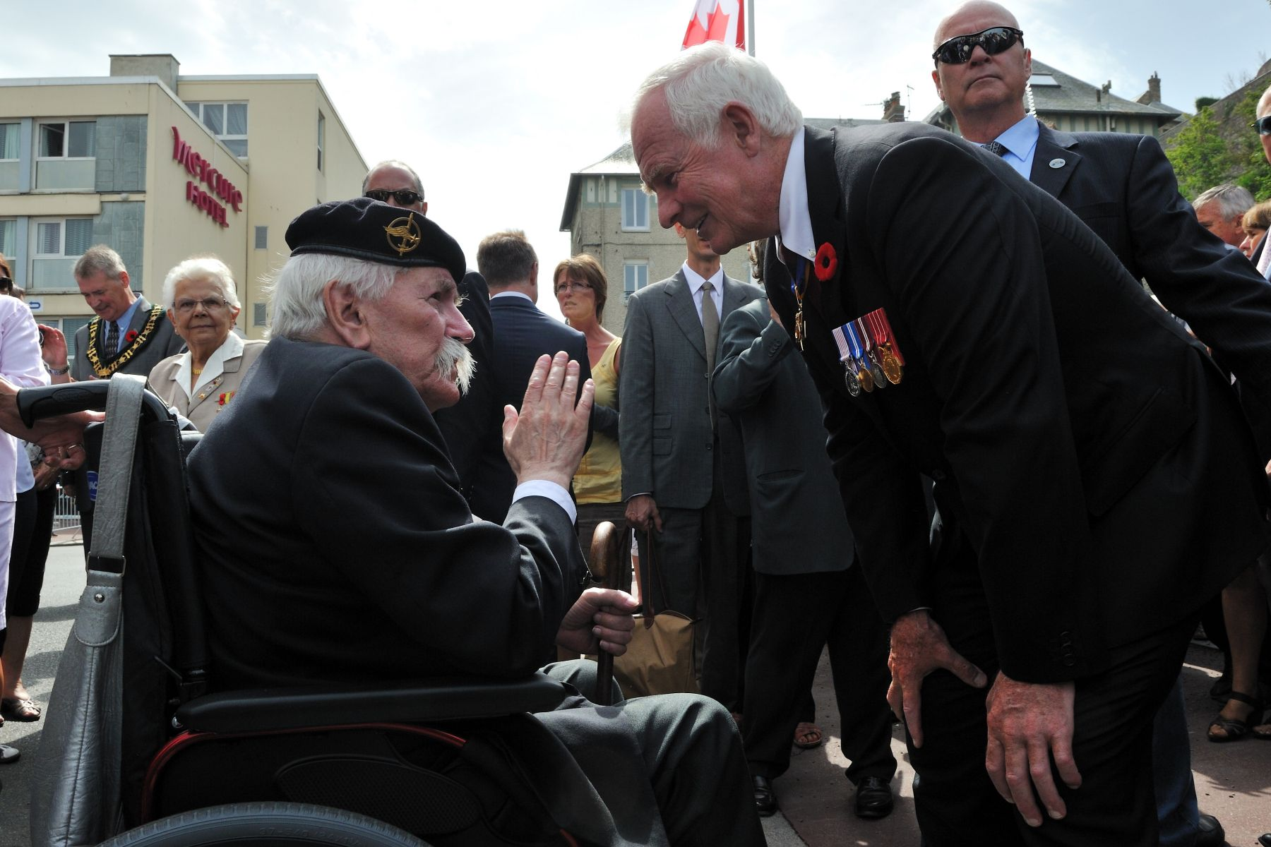 The Governor General took the time to speak to veterans that attended the event.