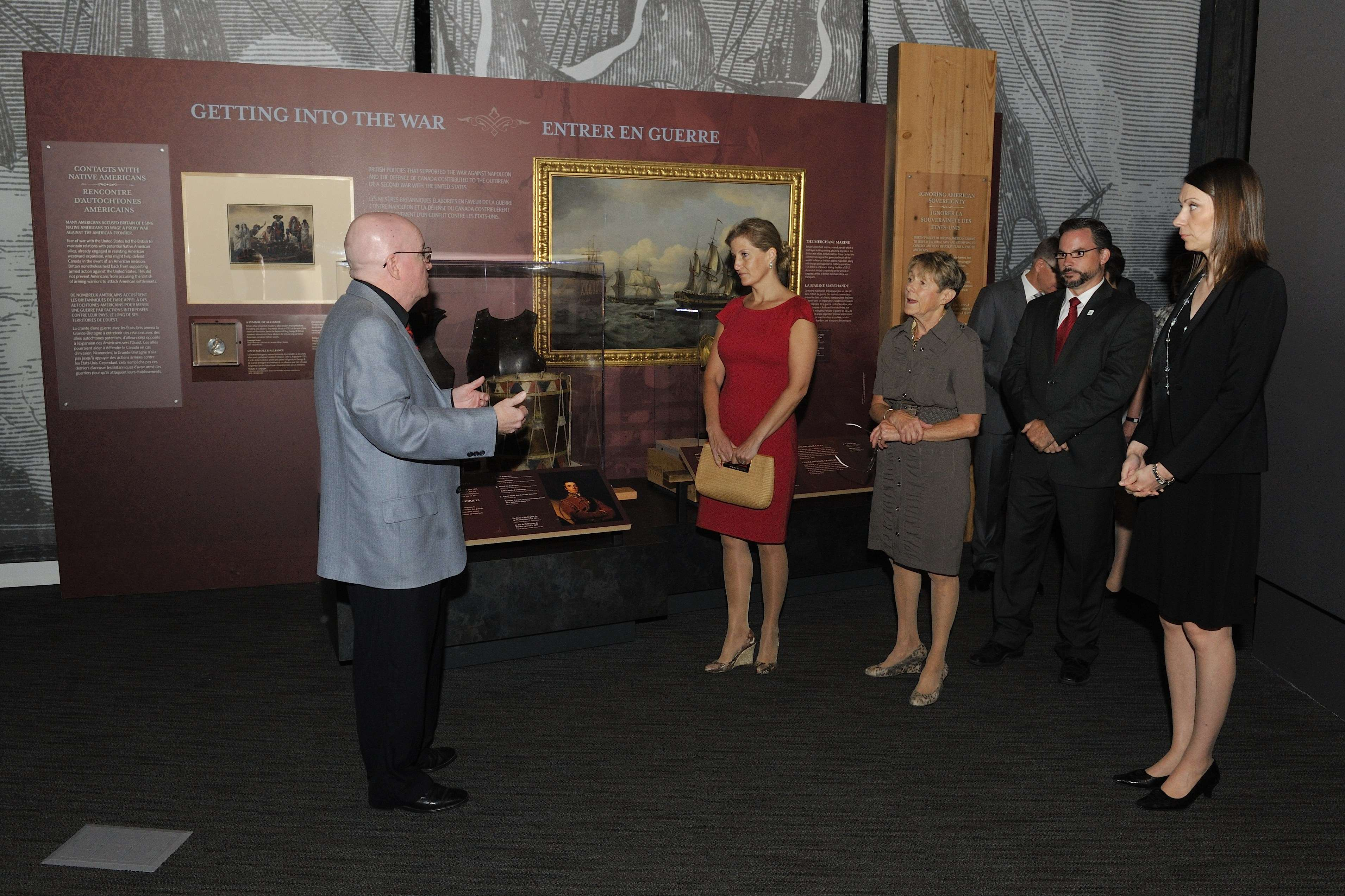 Her Excellency Sharon Johnston joined Her Royal Highness The Countess of Wessex for a tour of the Canadian War Museum's 1812 exhibition.