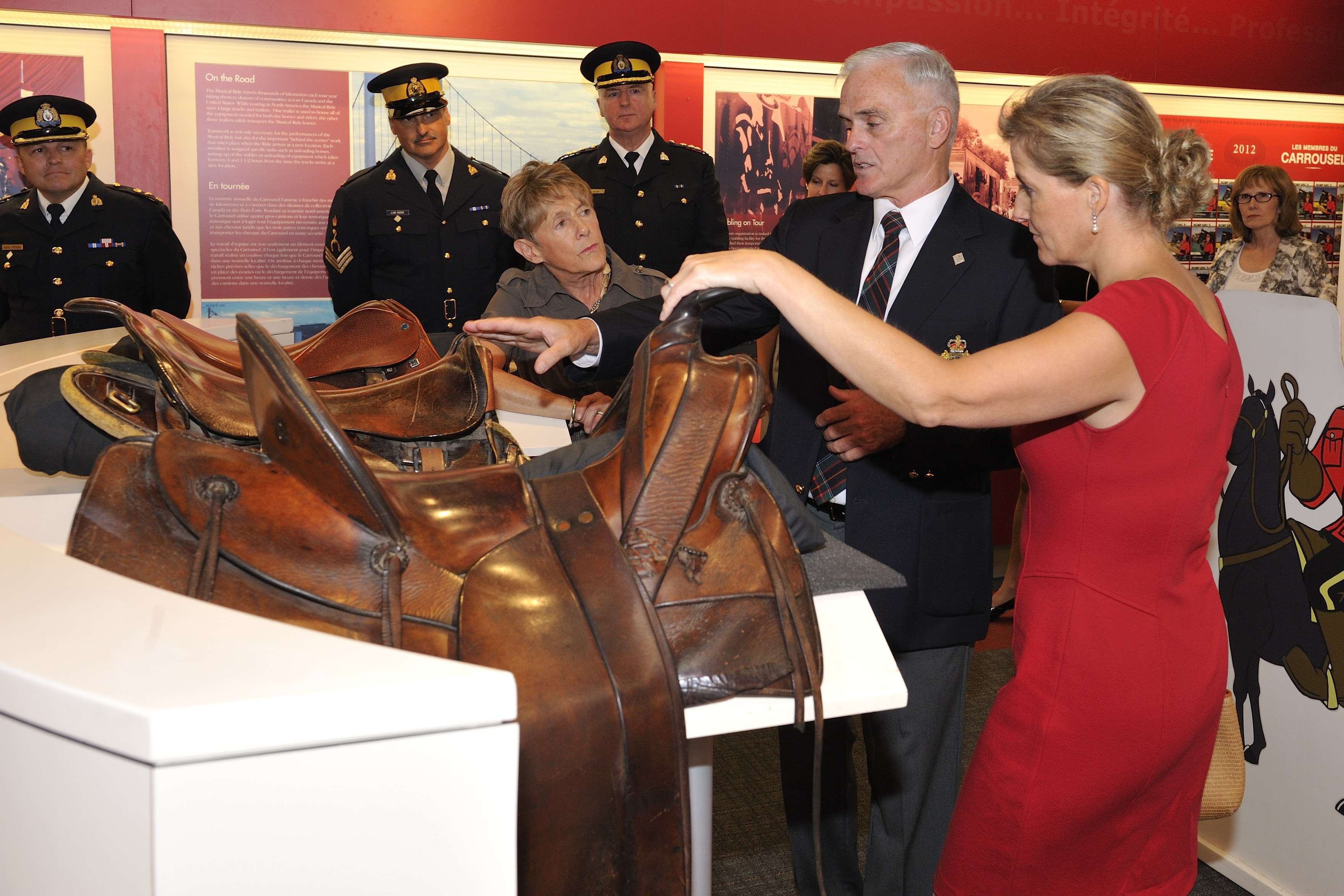 Her Excellency and Her Royal Highness also visited the Royal Canadian Mounted Police Musical Ride Centre.