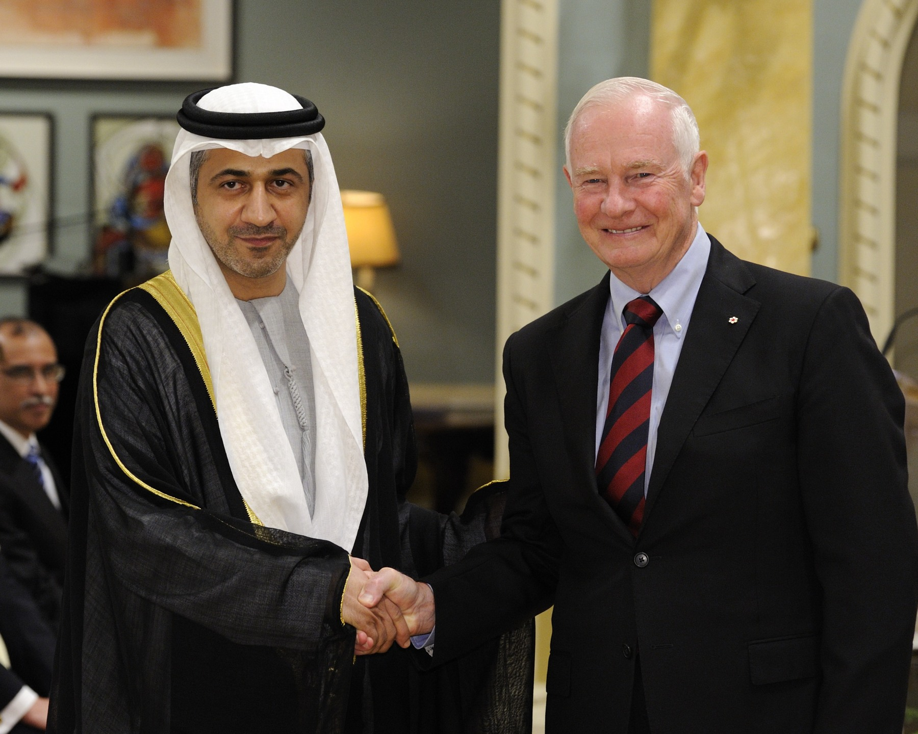 The Governor General received the credentials of His Excellency Mohammed Saif Helal AlShehhi, Ambassador of the United Arab Emirates.