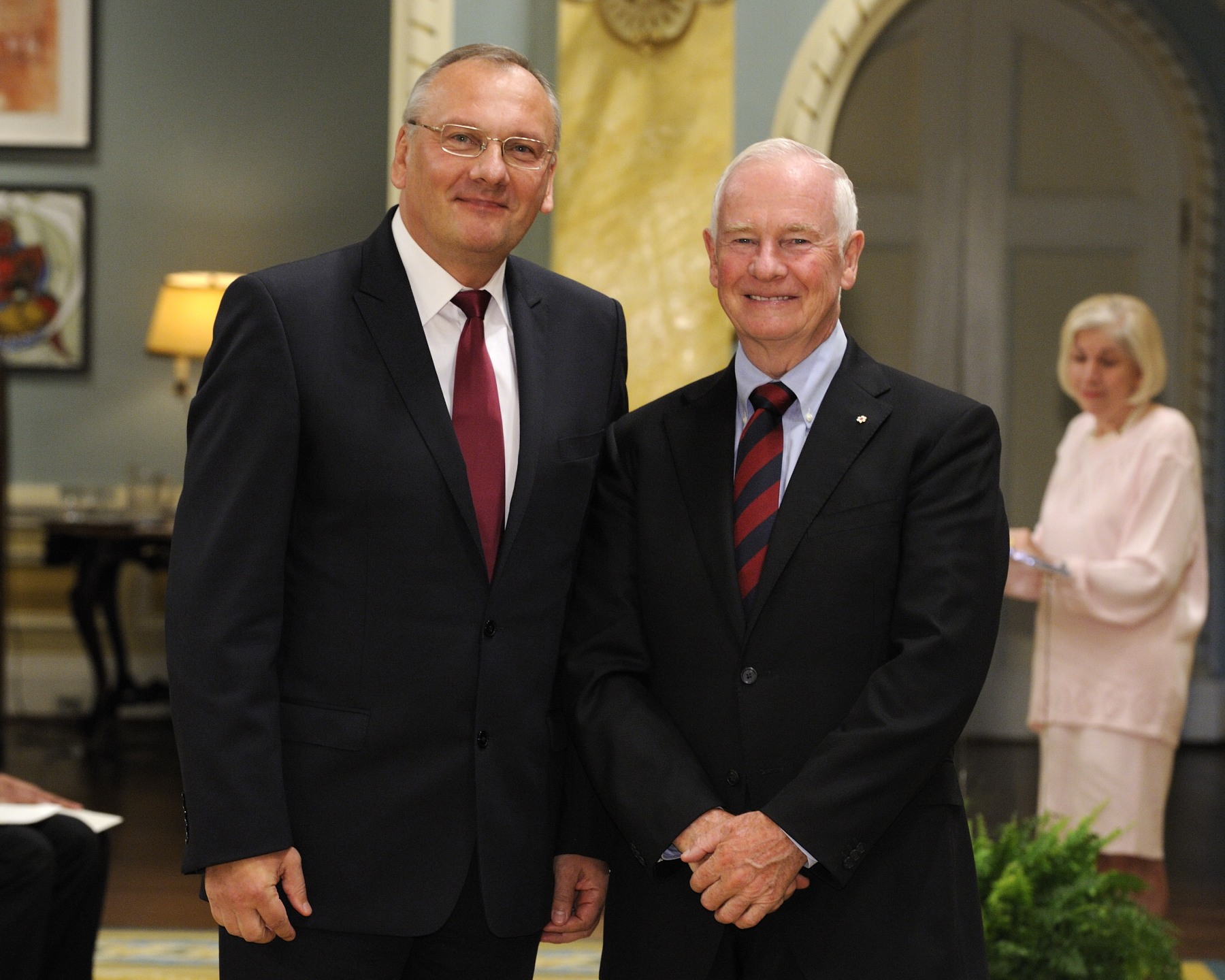 The Governor General received the credentials of His Excellency Vytautas Žalys, Ambassador of the Republic of Lithuania.