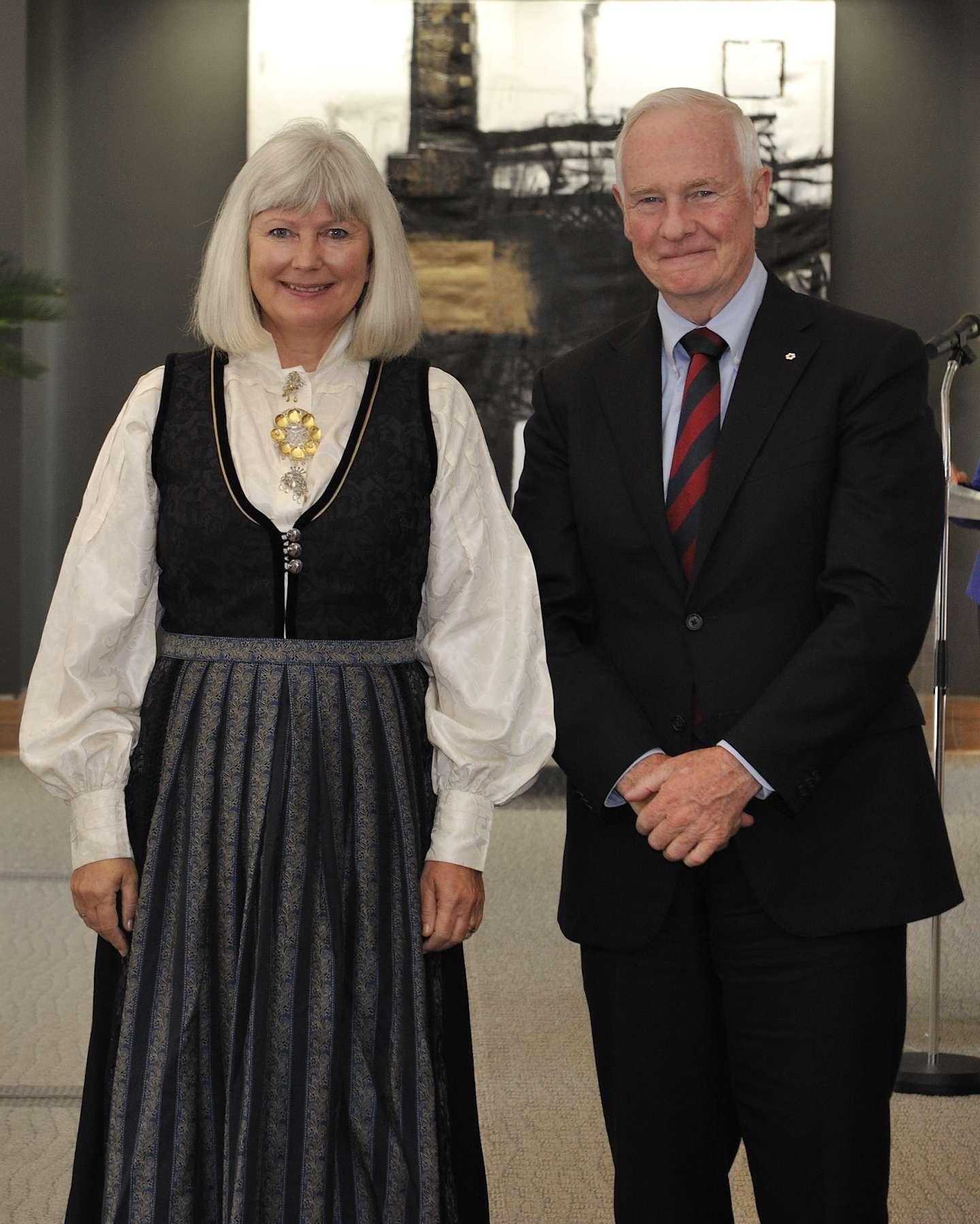 The Governor General received the credentials of Her Excellency Mona Elisabeth Brøther, Ambassador of the Kingdom of Norway.