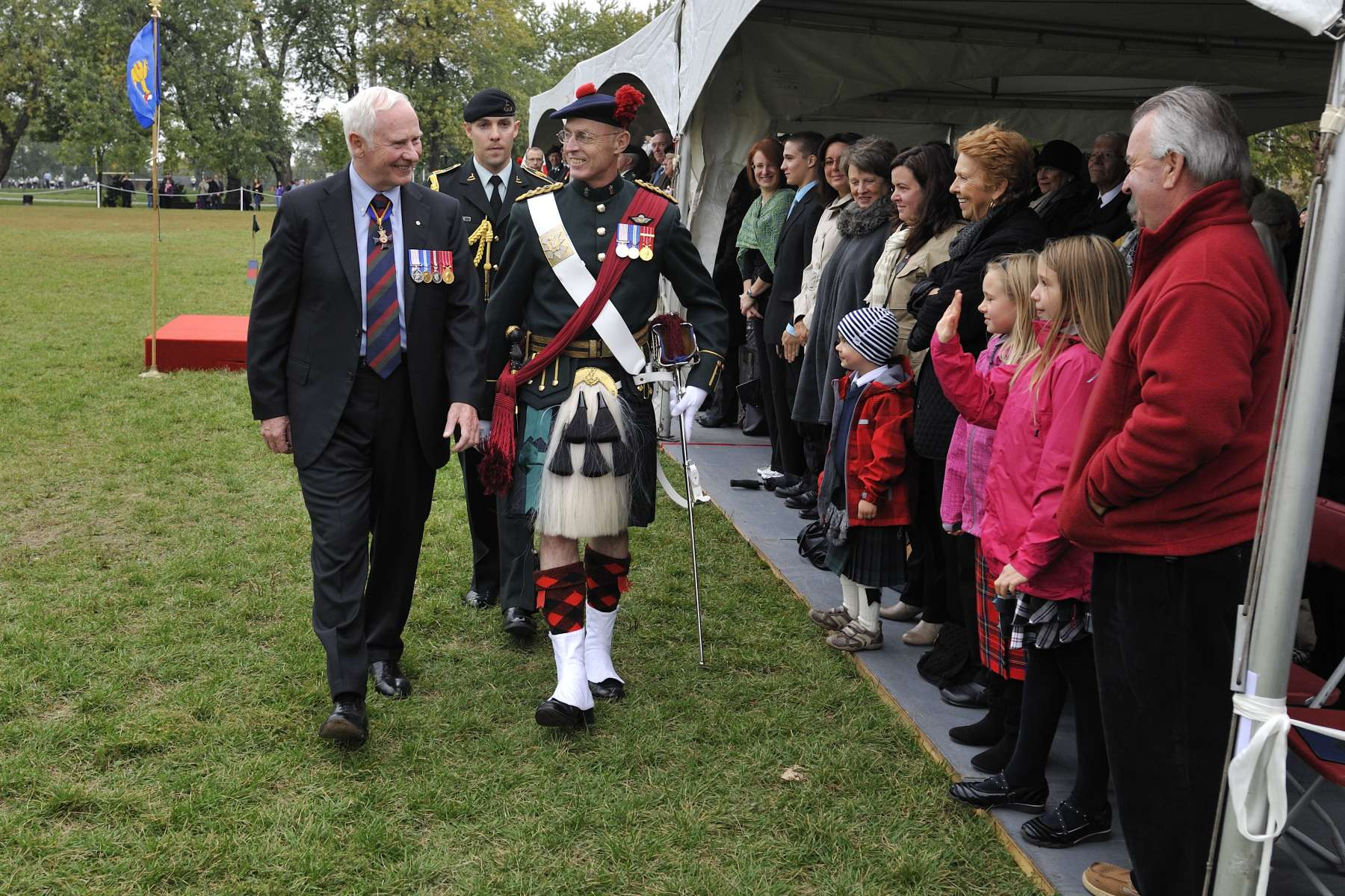 His Excellency with the Honorary Colonel of the Black Watch, Colonel Dan O'Connor.