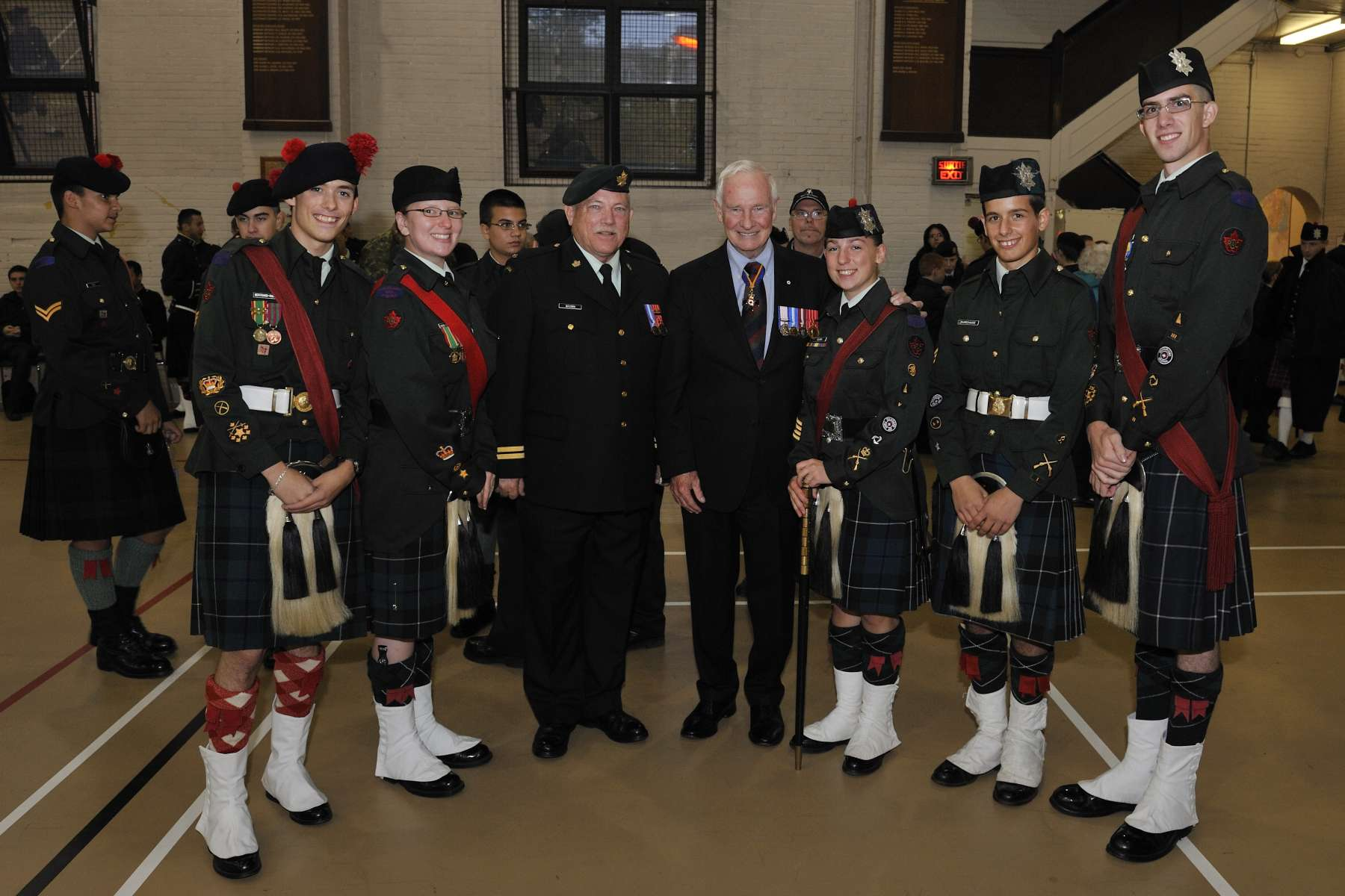Following the unveiling, His Excellency met with cadets from The Black Watch.