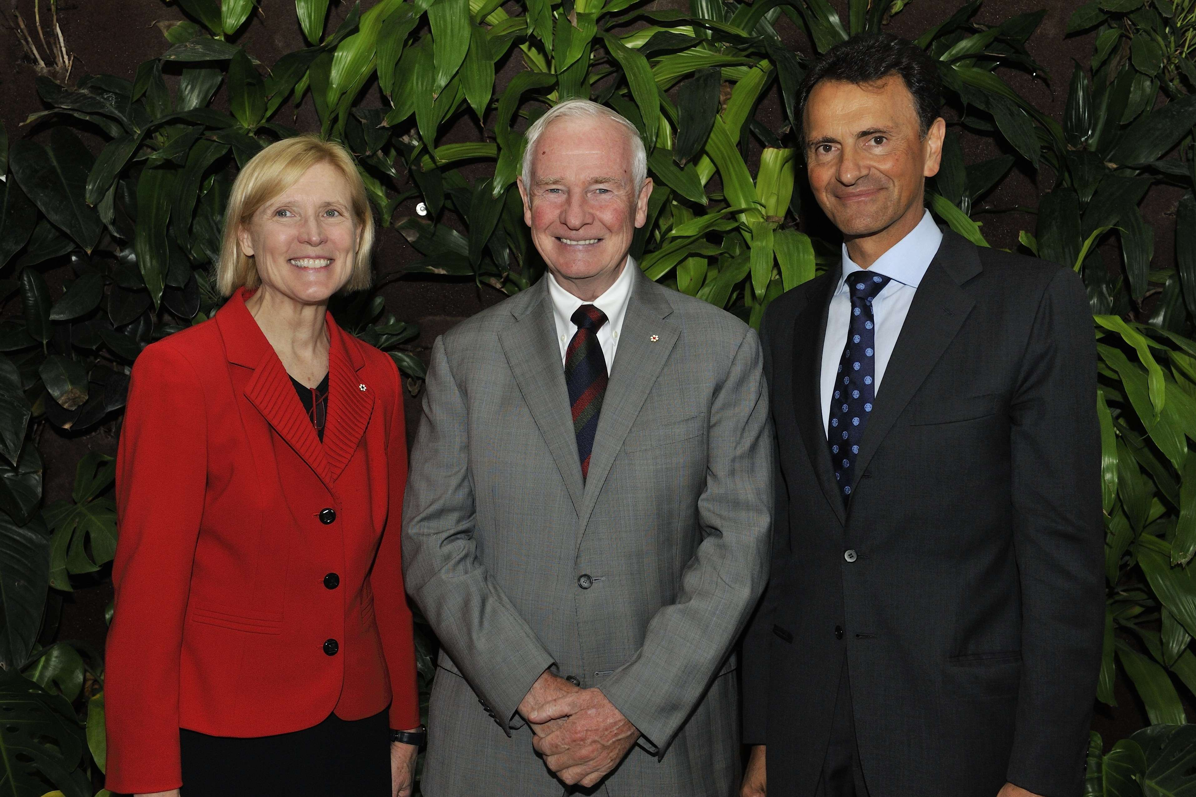 The Governor General was happy to join Ms. Roseann O'Reilly Runte, President and vice-chancellor of Carleton University, and His Excellency Andrea Meloni, Ambassador of Italy to Canada, for this event.