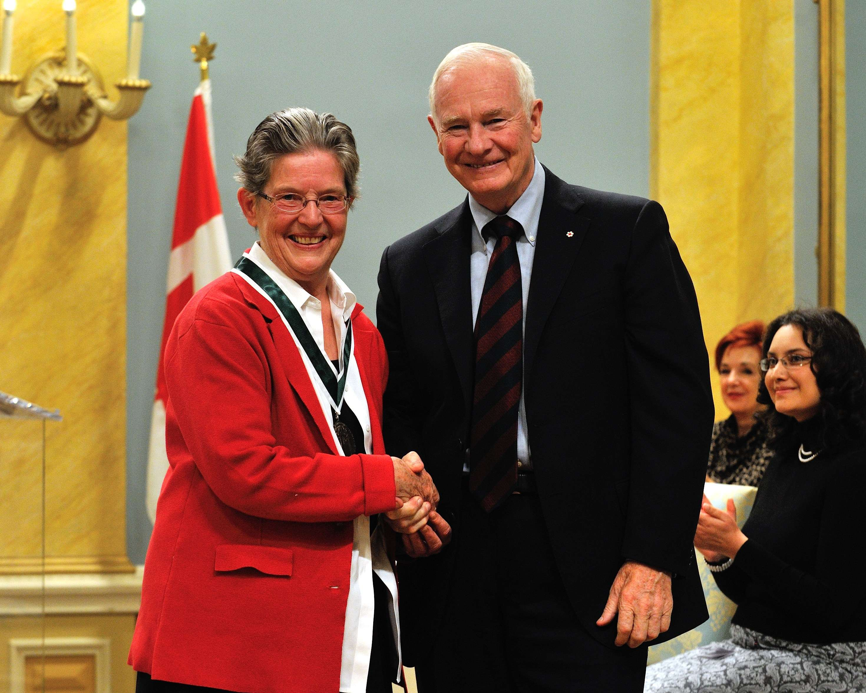 The first laureate, Ms. Caroline Andrew, of Ottawa, Ontario, is a professor emeritus, director of the Centre on Governance, and former dean of the Faculty of Social Sciences at the University of Ottawa.