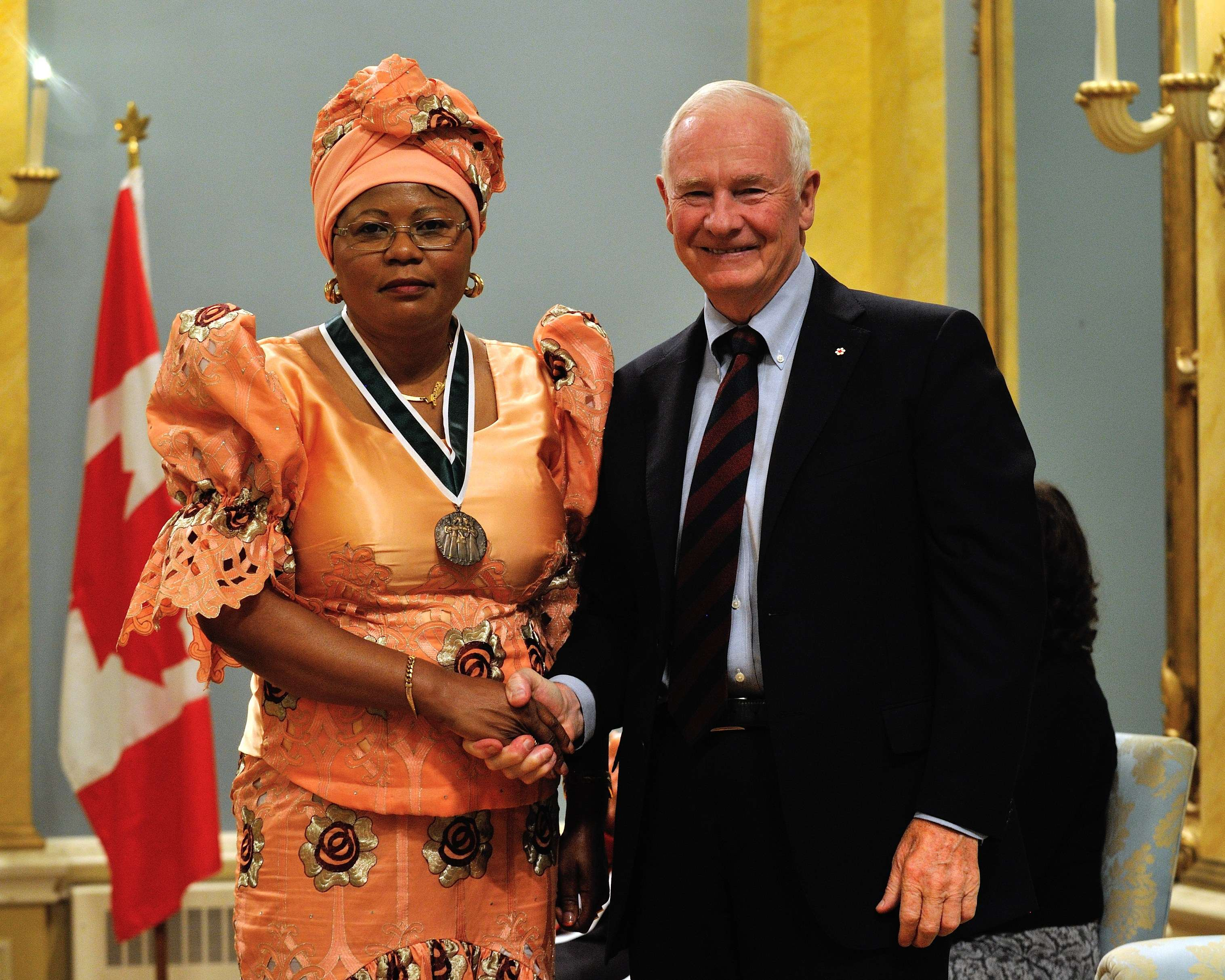 Ms. Régine Alende Tshombokongo, of Montréal, Quebec, is a dedicated community advocate who works tirelessly to improve the lives of immigrant women in Quebec.