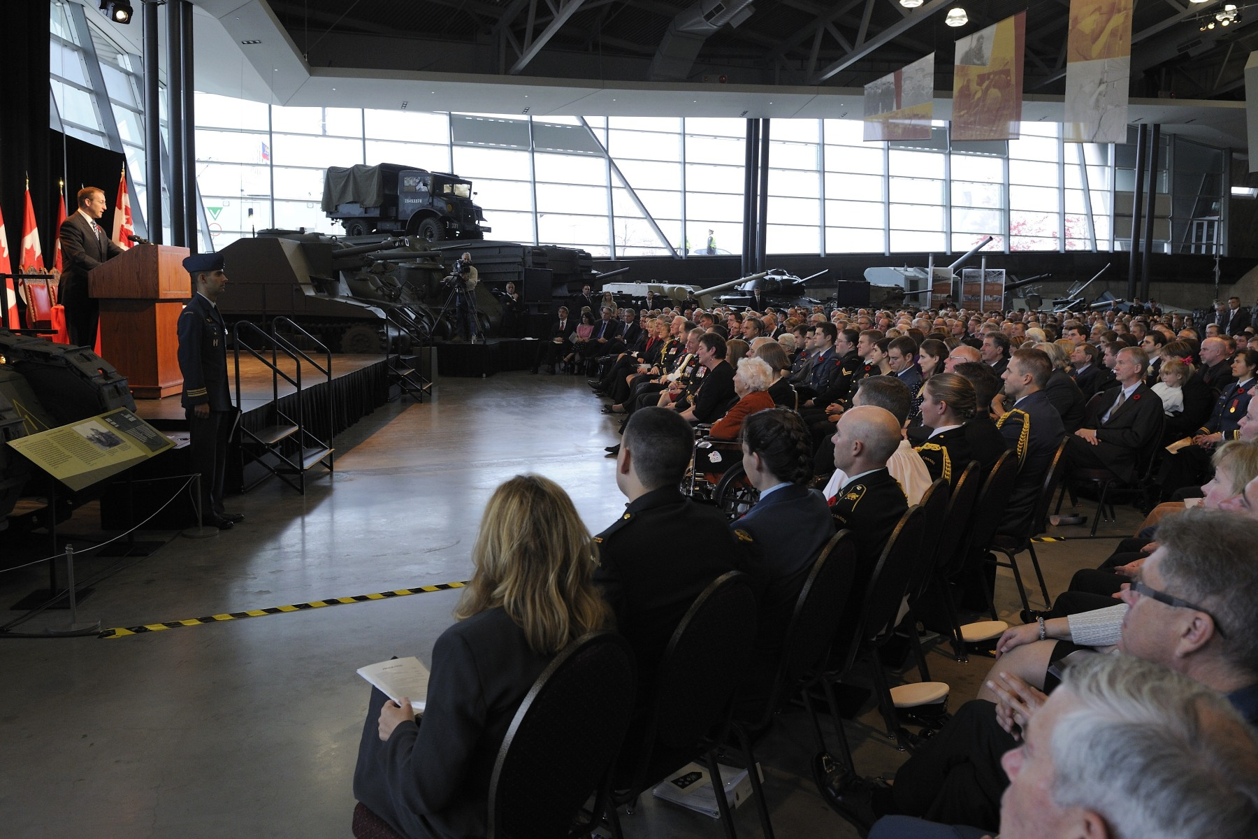 Canadian Forces personnel and their family members as well as distinguised guests attended the ceremony.