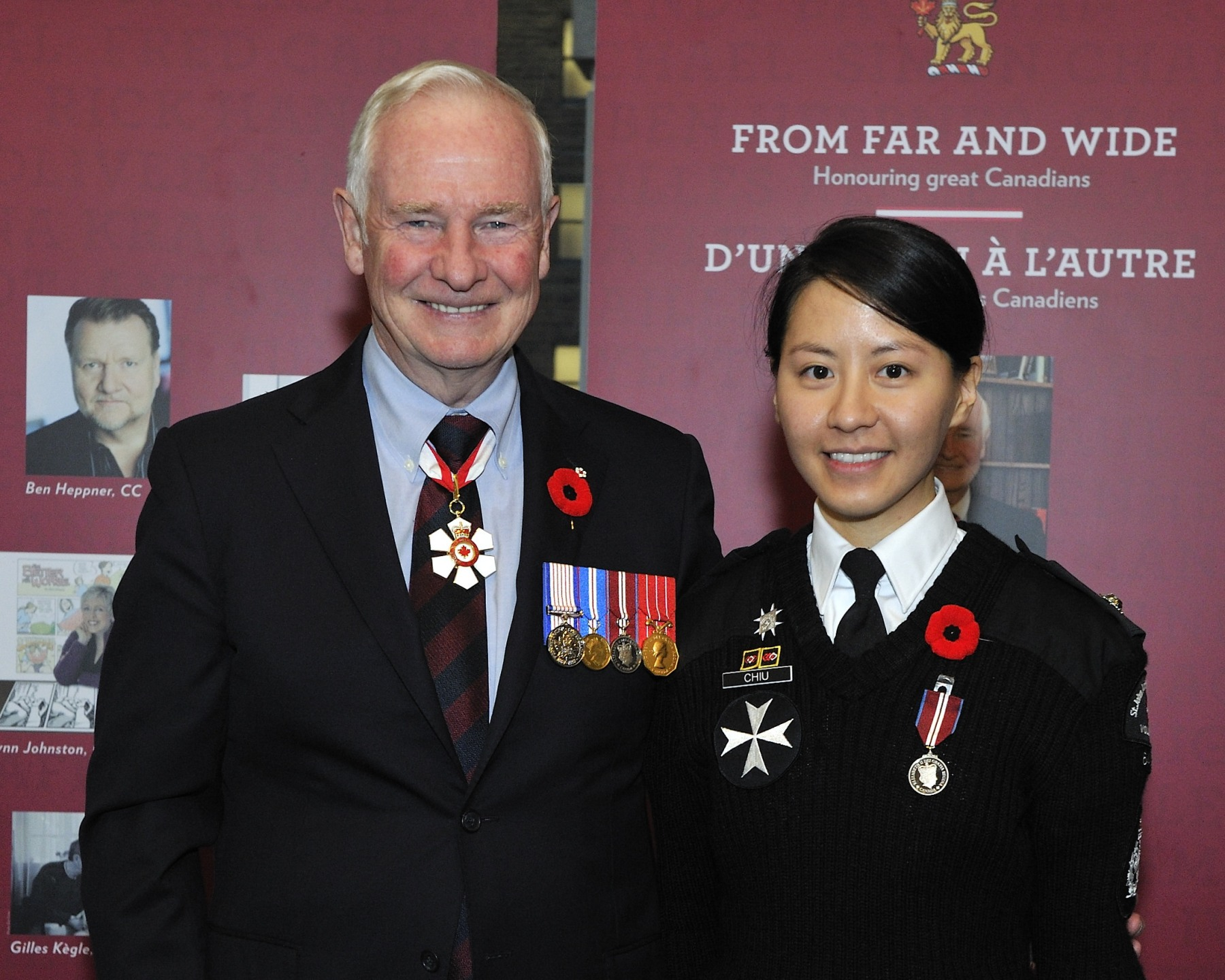 Judy Chiu (Burnaby, British Columbia) is recognized for her dedication as a mentor to younger volunteers and as a member of the St. John Ambulance Cadet Division.