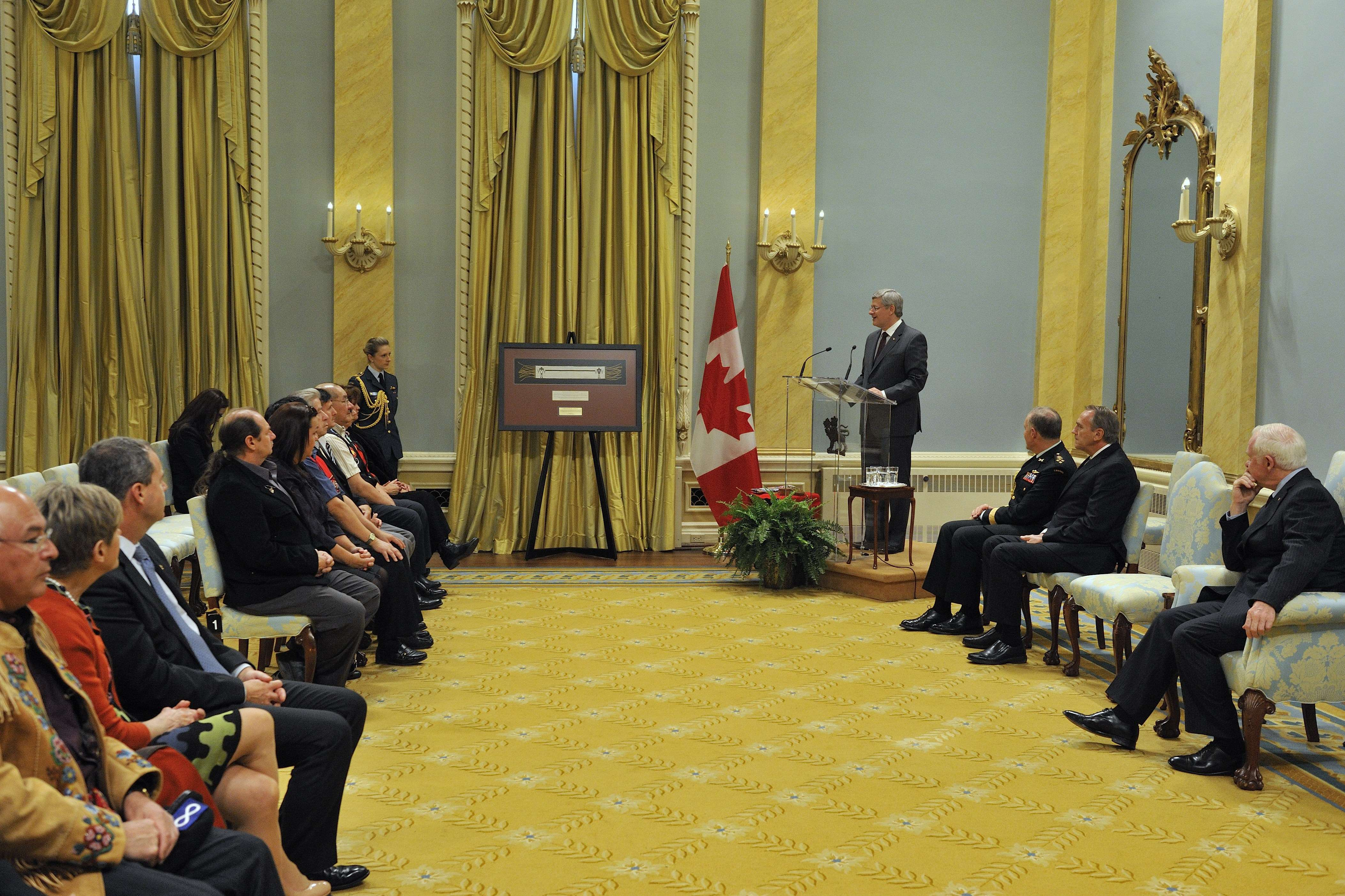 The Right Honourable Stephen Harper also delivered a speech on the occasion.