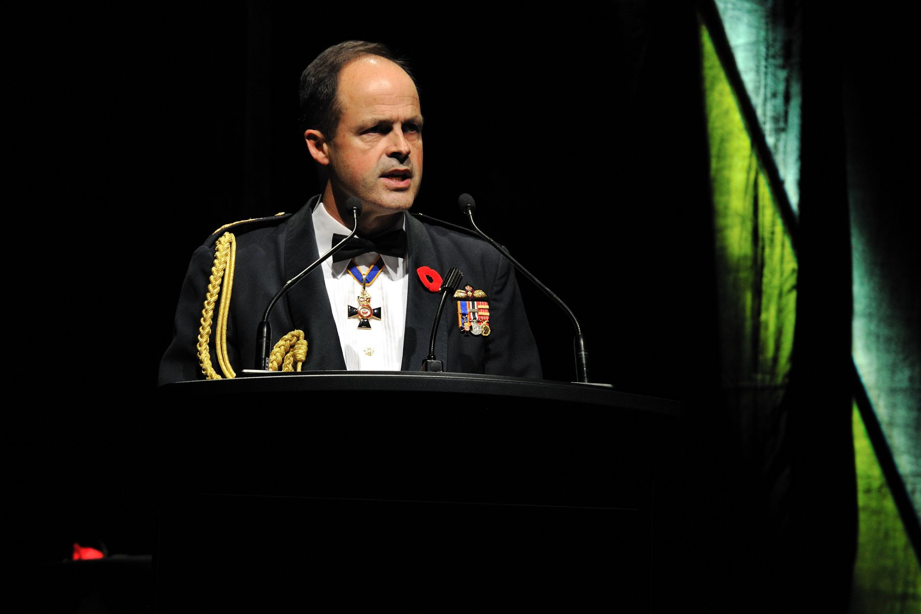 The recently appointed Chief of the Defence Staff General Tom Lawson also delivered a speech.