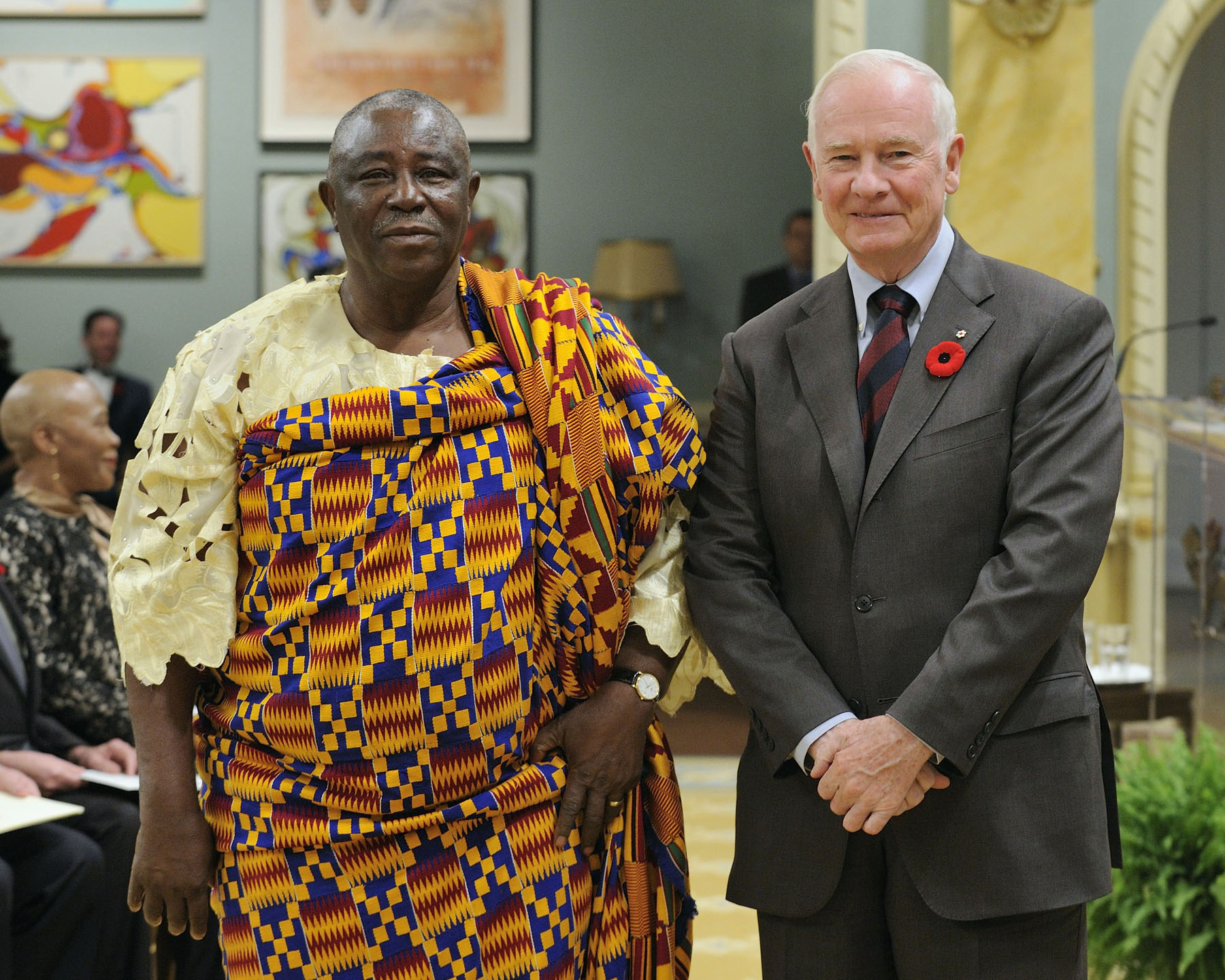 The Governor General received the credentials of His Excellency Samuel Valis-Akyianu, High Commissioner for the Republic of Ghana.