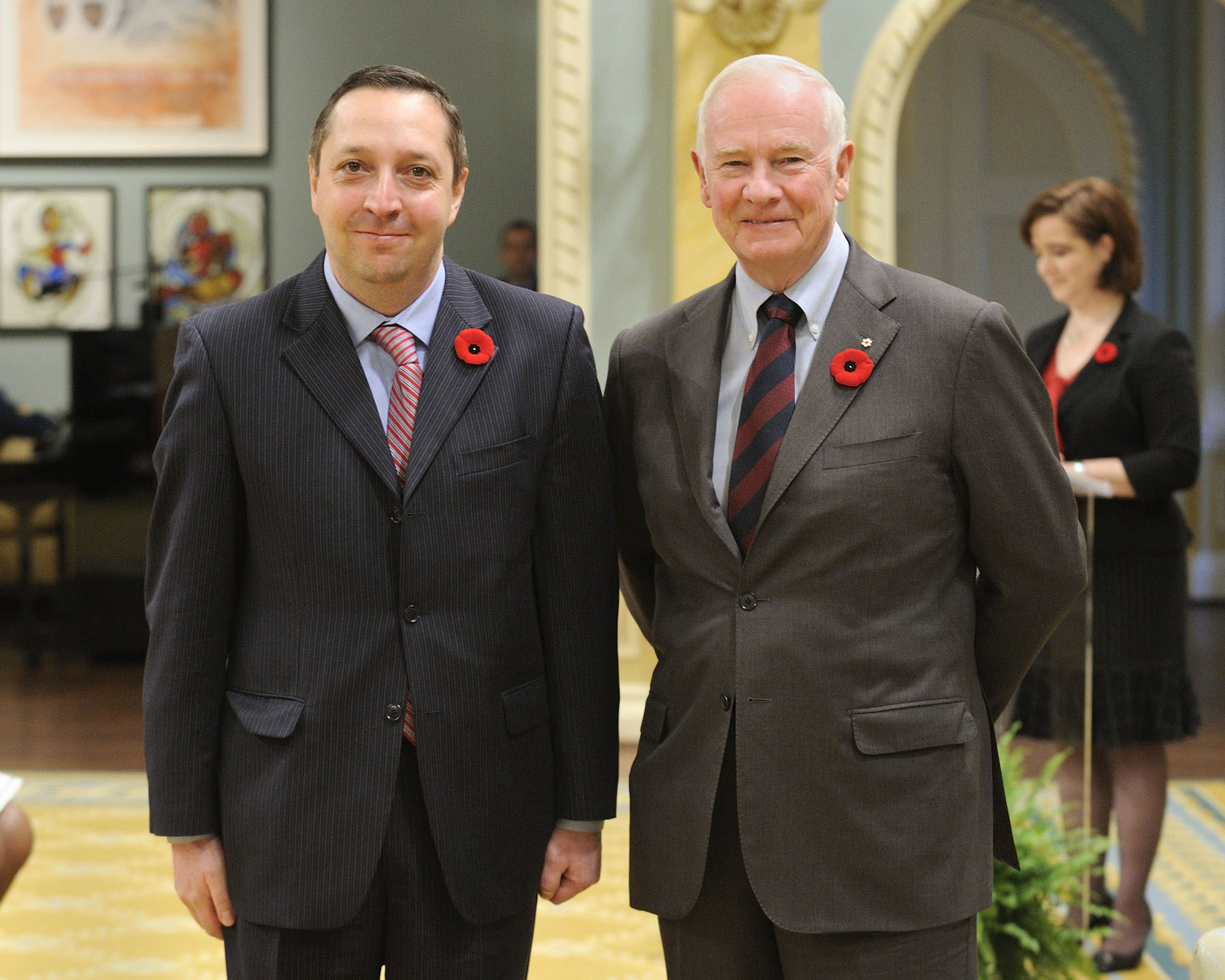The Governor General received the credentials of His Excellency Alexander Latsabidze, Ambassador of Georgia.