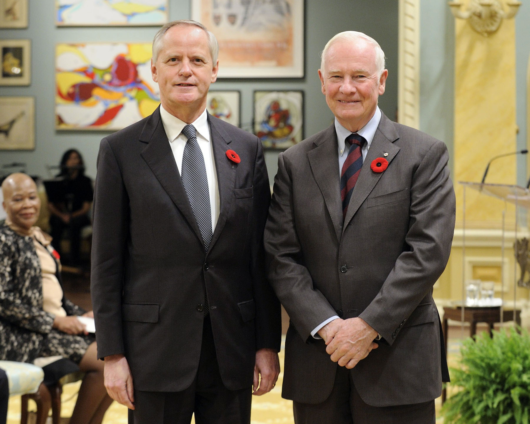 The Governor General received the credentials of His Excellency Arno Riedel, Ambassador of the Republic of Austria.