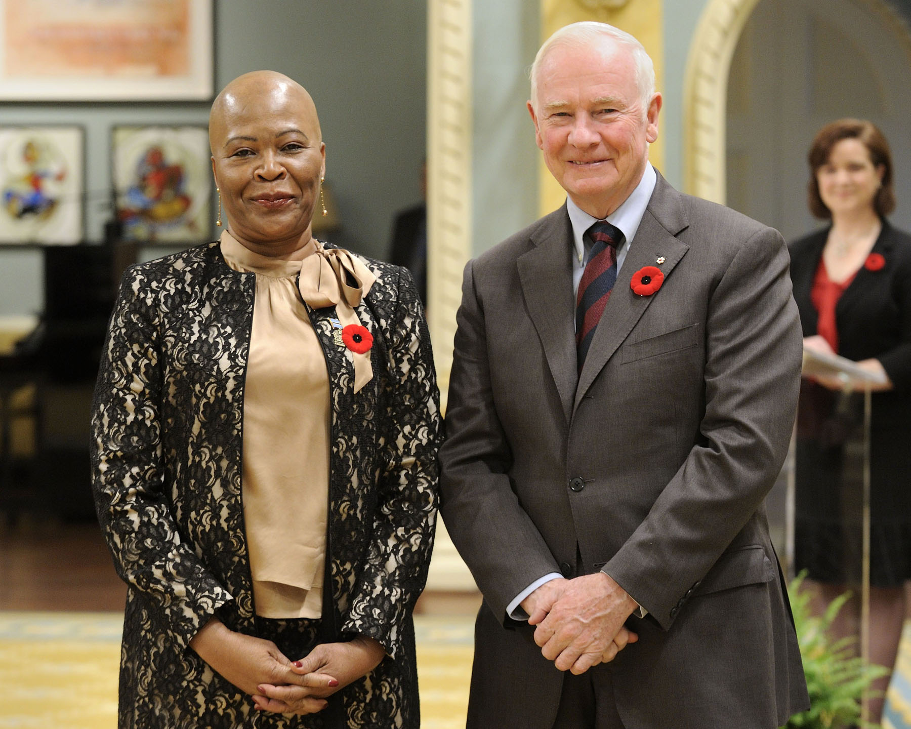 The Governor General received the credentials of Her Excellency Tebelelo Mazile Seretse, High Commissioner for the Republic of Botswana