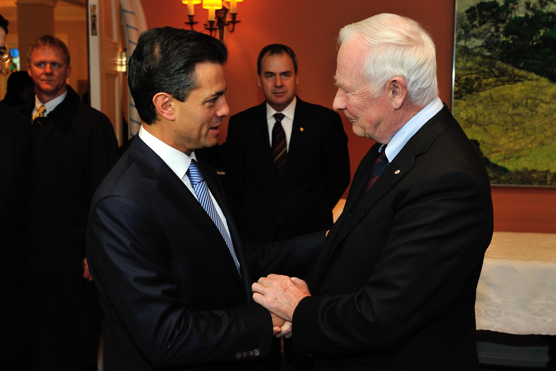On the eve of his departure for a visit to Mexico, the Governor General met with Mr. Enrique Peña Nieto, President-elect of the United Mexican States.