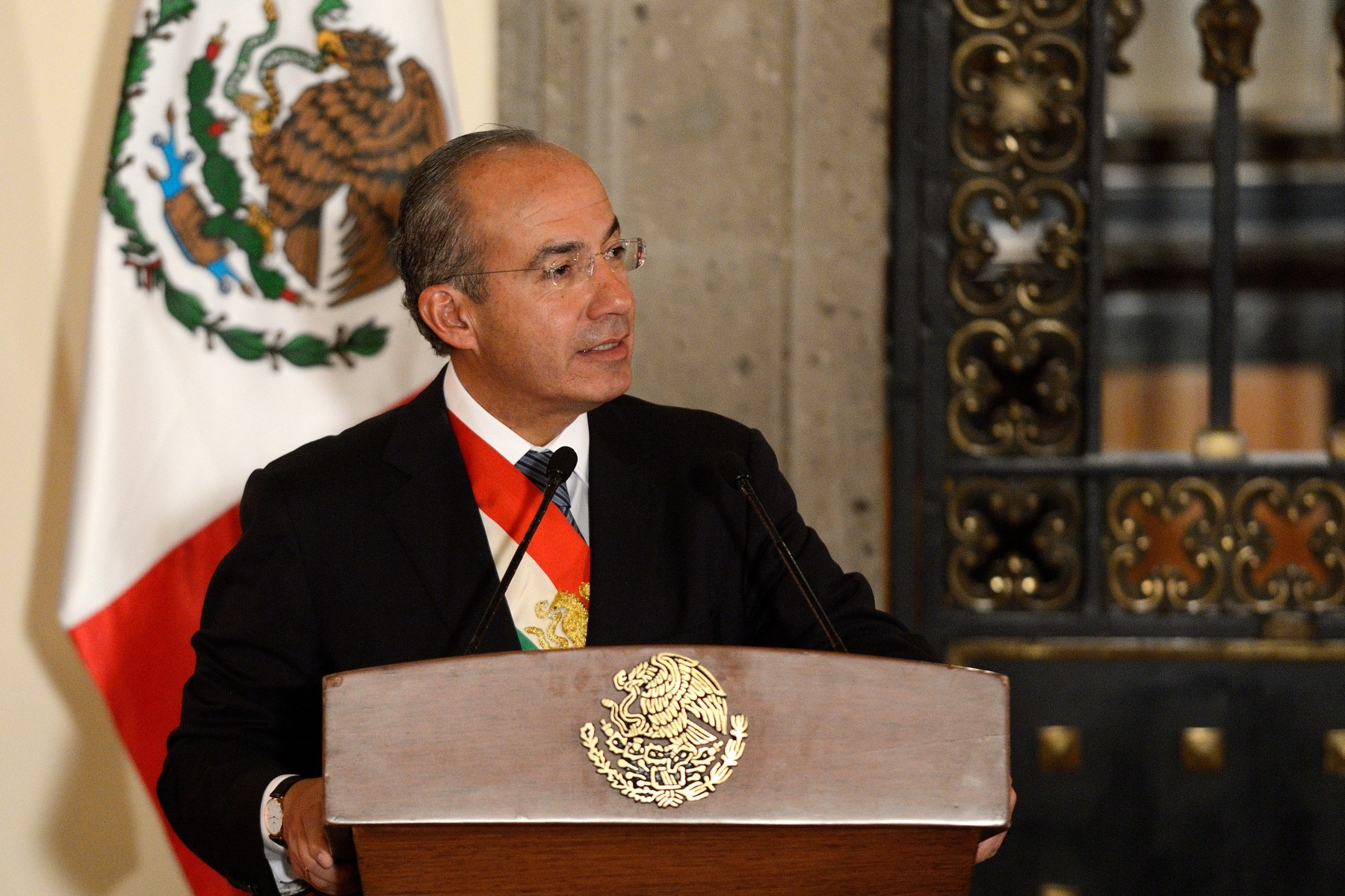 President Calderón gave a speech on the occasion of his last State Dinner as President of Mexico.