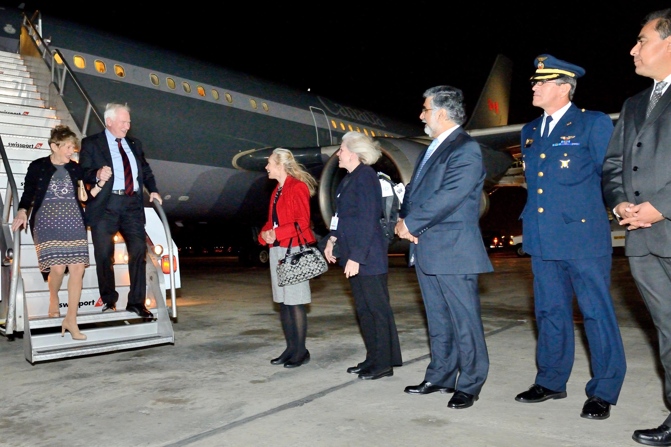 Their Excellencies arrived in Lima, Peru, where they are undertaking an official visit from December 2 to 5.