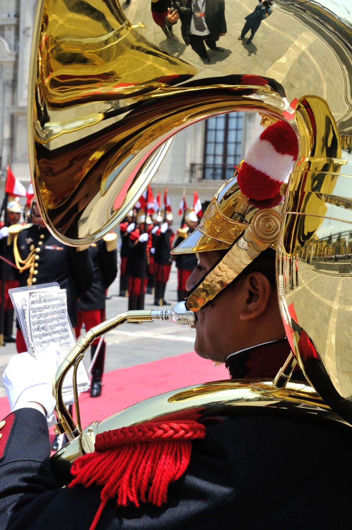 The official welcoming ceremony was held at Government Palace, in Lima.