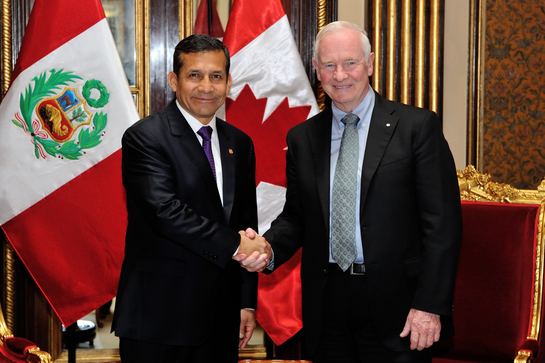 Official meeting between His Excellency and the President of the Republic of Peru.