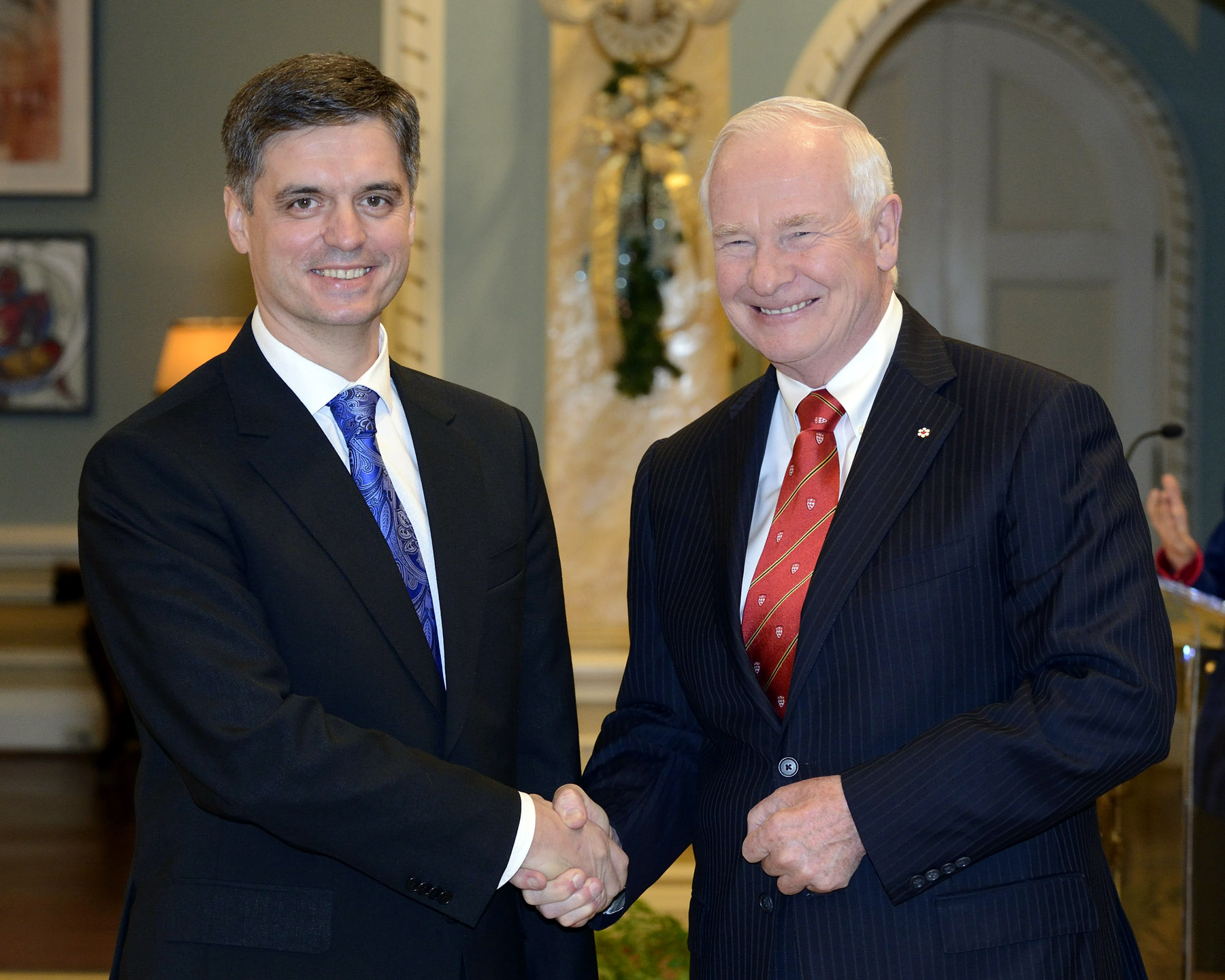The Governor General received the credentials of His Excellency Vadym Prystaiko, Ambassador of Ukraine.