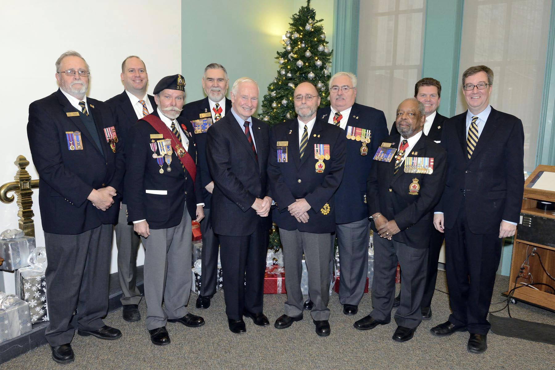 Members of the Royal Canadian Legion also attended the event.