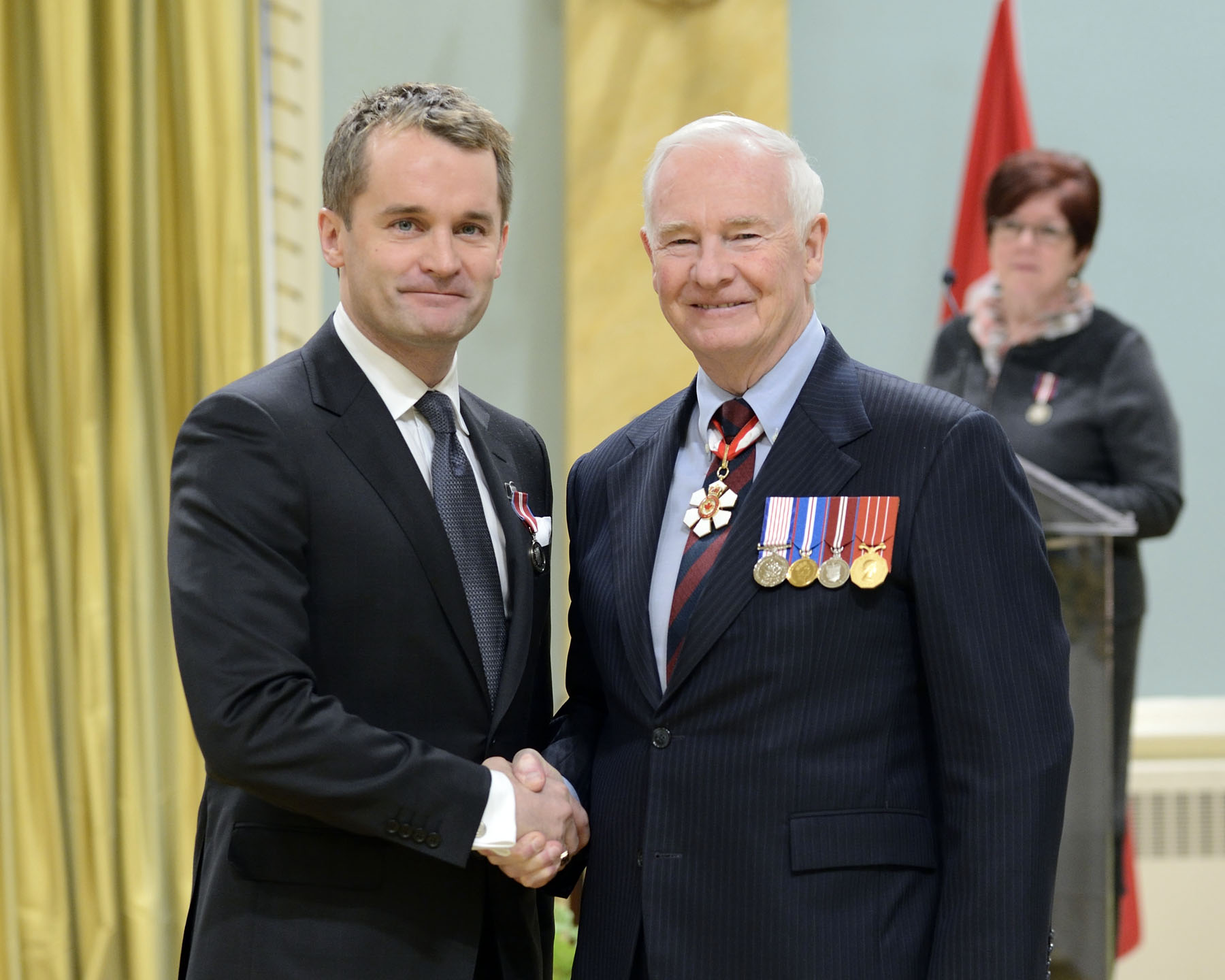 "News correspondent and former co-host of ""Canada AM"", Seamus O'Regan (St. John's, Newfoundland and Labrador and Toronto, Ontario) became the first journalist to be named to Canada's Top 40 under 40. He has endorsed several community educational and cultural initiatives."