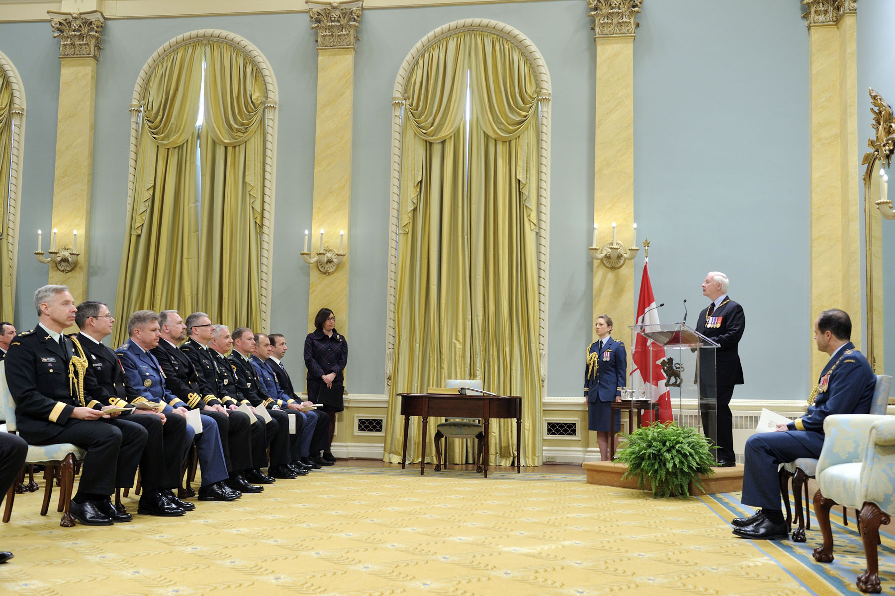 """As chancellor of the Order of Military Merit, I am honoured to recognize your outstanding service to our country,"" said His Excellency. ""That applies to those of you who are being named Commanders, Officers and Members of the Order, and also to your loved ones, who offer such valuable support and encouragement."""