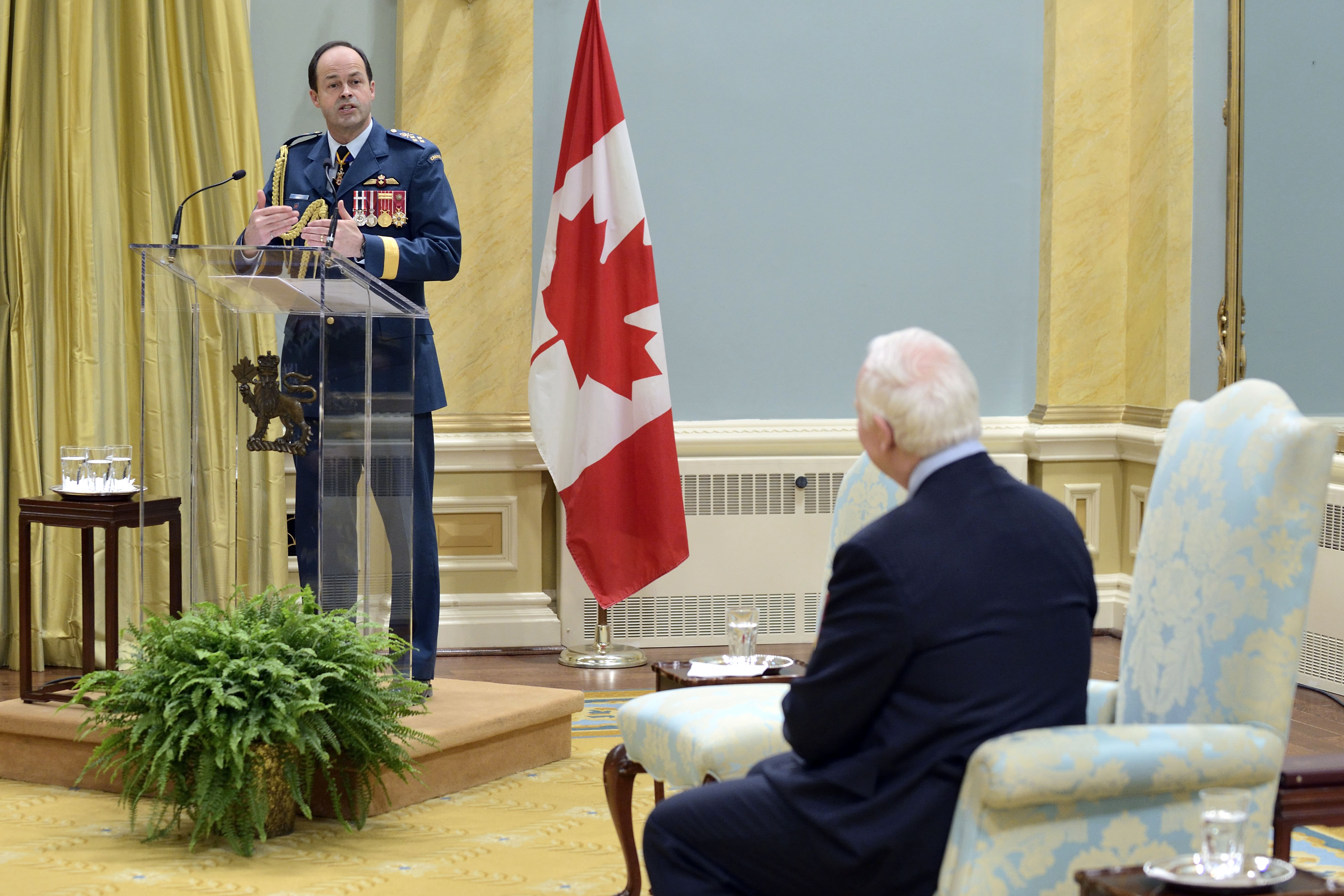 General Thomas J. Lawson, Chief of the Defence Staff, delivered remarks for the occasion.