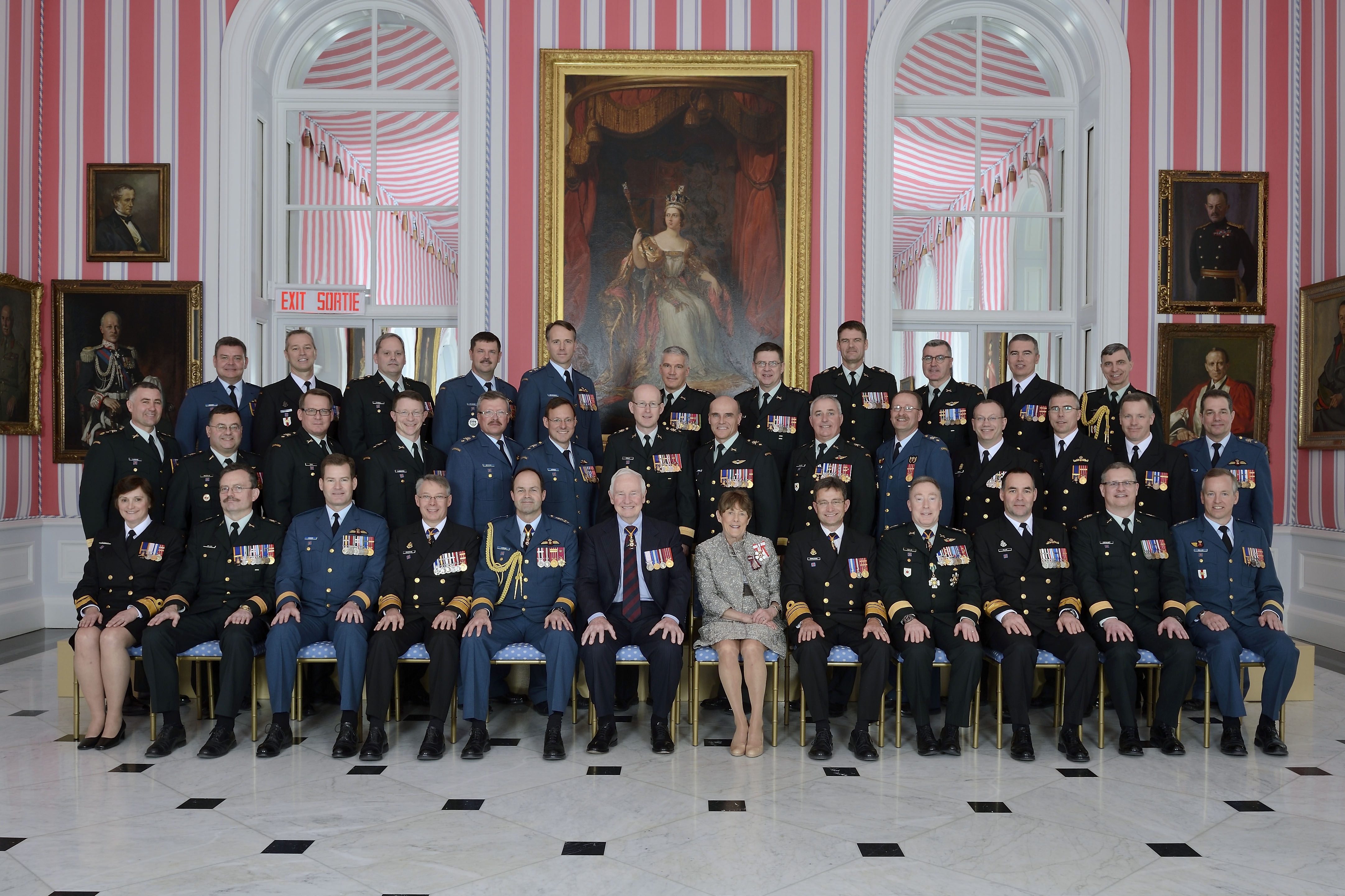 Twenty-six Canadian Forces members received their scrolls from the Governor General and the Chief of the Defense Staff.