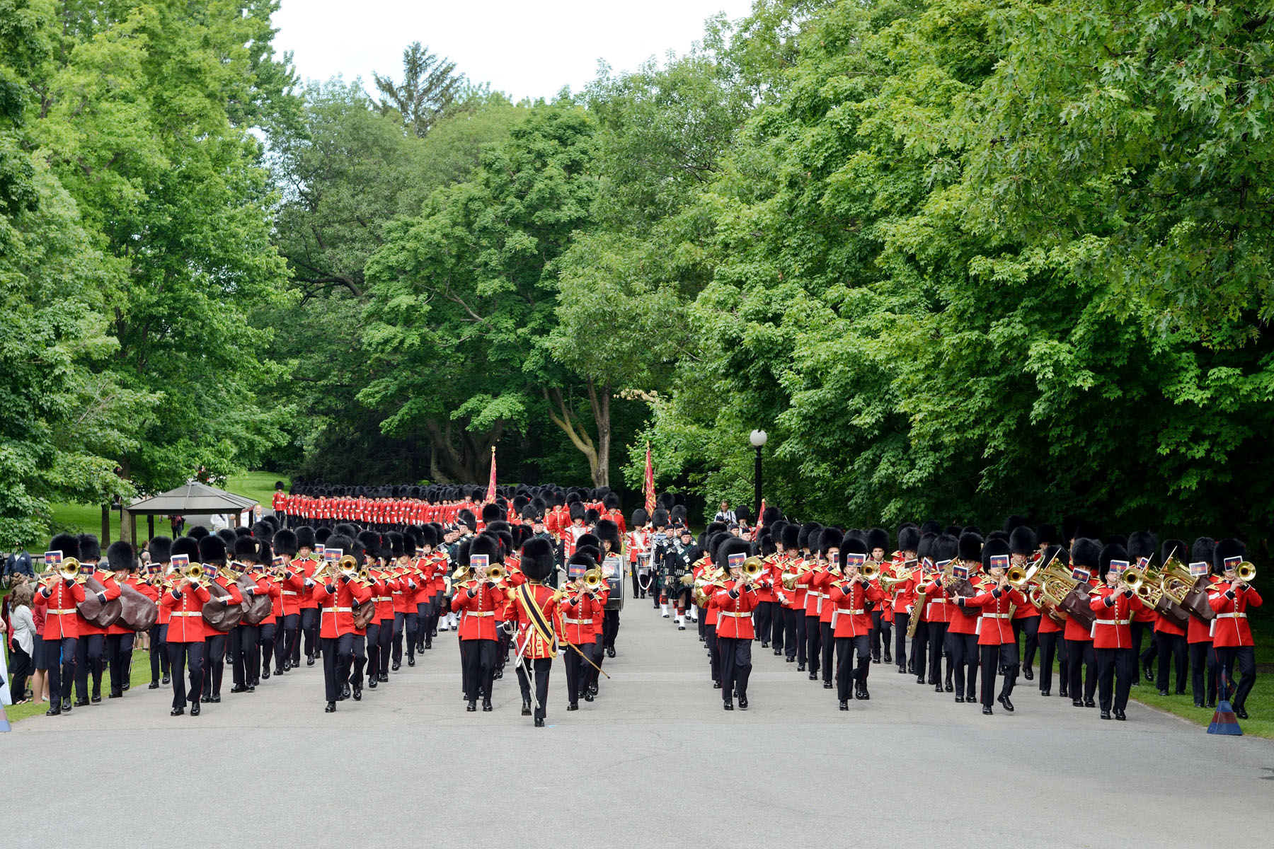 His Excellency the Right Honourable David Johnston, Governor General and Commander-in-Chief of Canada, invited the public to join him for the annual Inspection of the Ceremonial Guard, on the grounds of Rideau Hall.