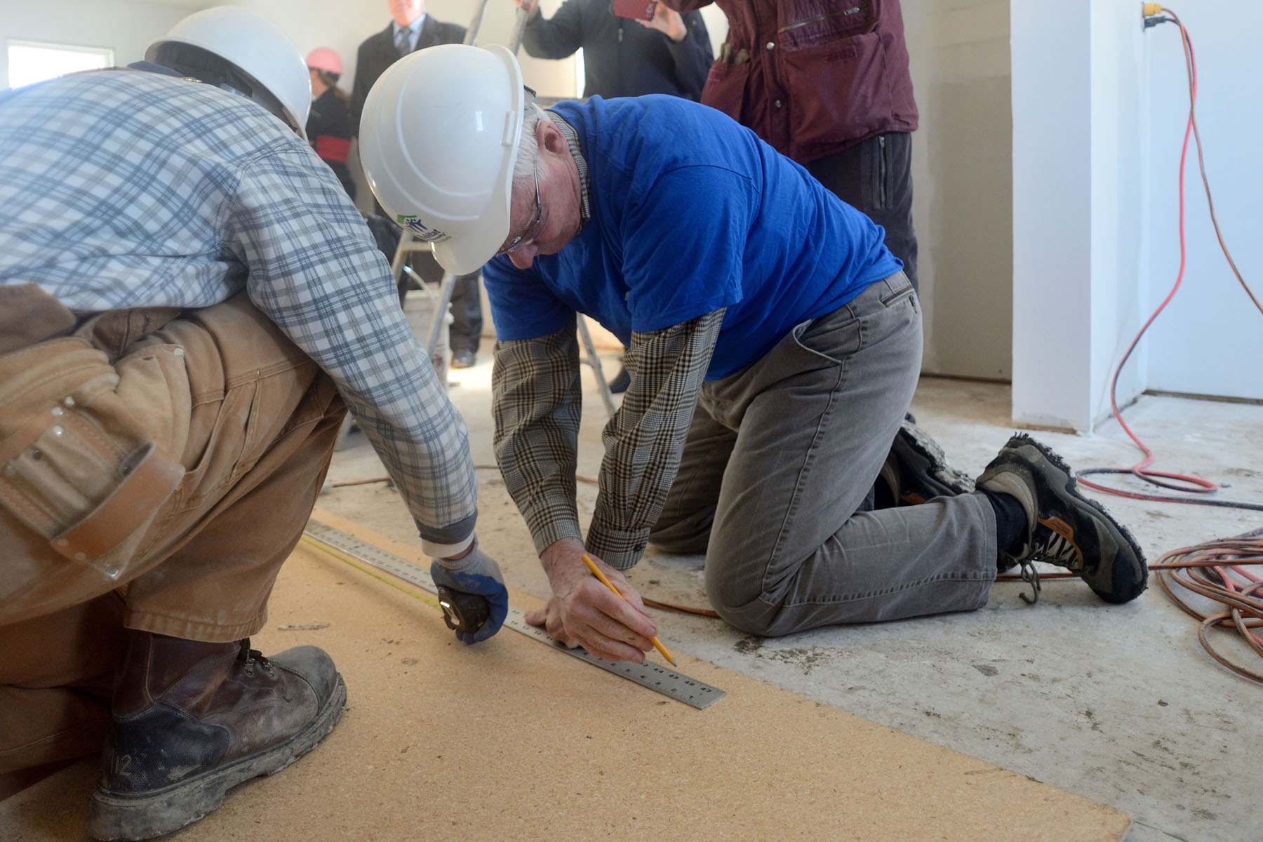 His Excellency wasted no time in picking up tools and working alongside Habitat for Humanity volunteers.