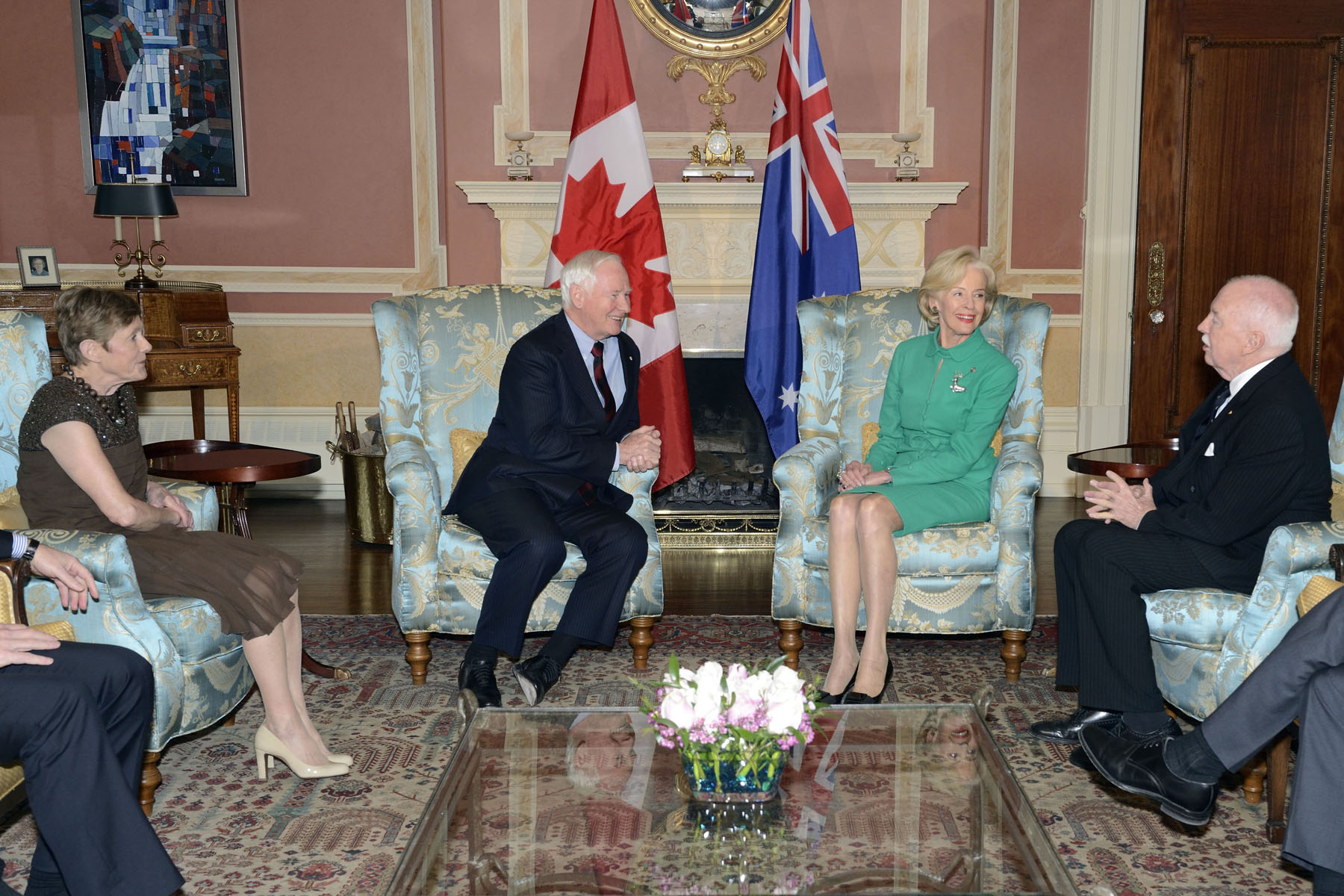 On this occasion, both governors general met to discuss linkages between both nations and their role as representatives of Her Majesty The Queen.