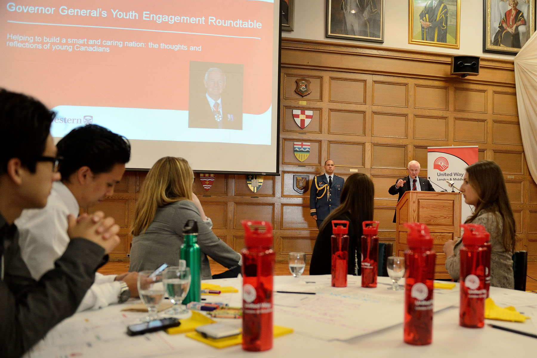 His Excellency addressed participants of a round table on youth 