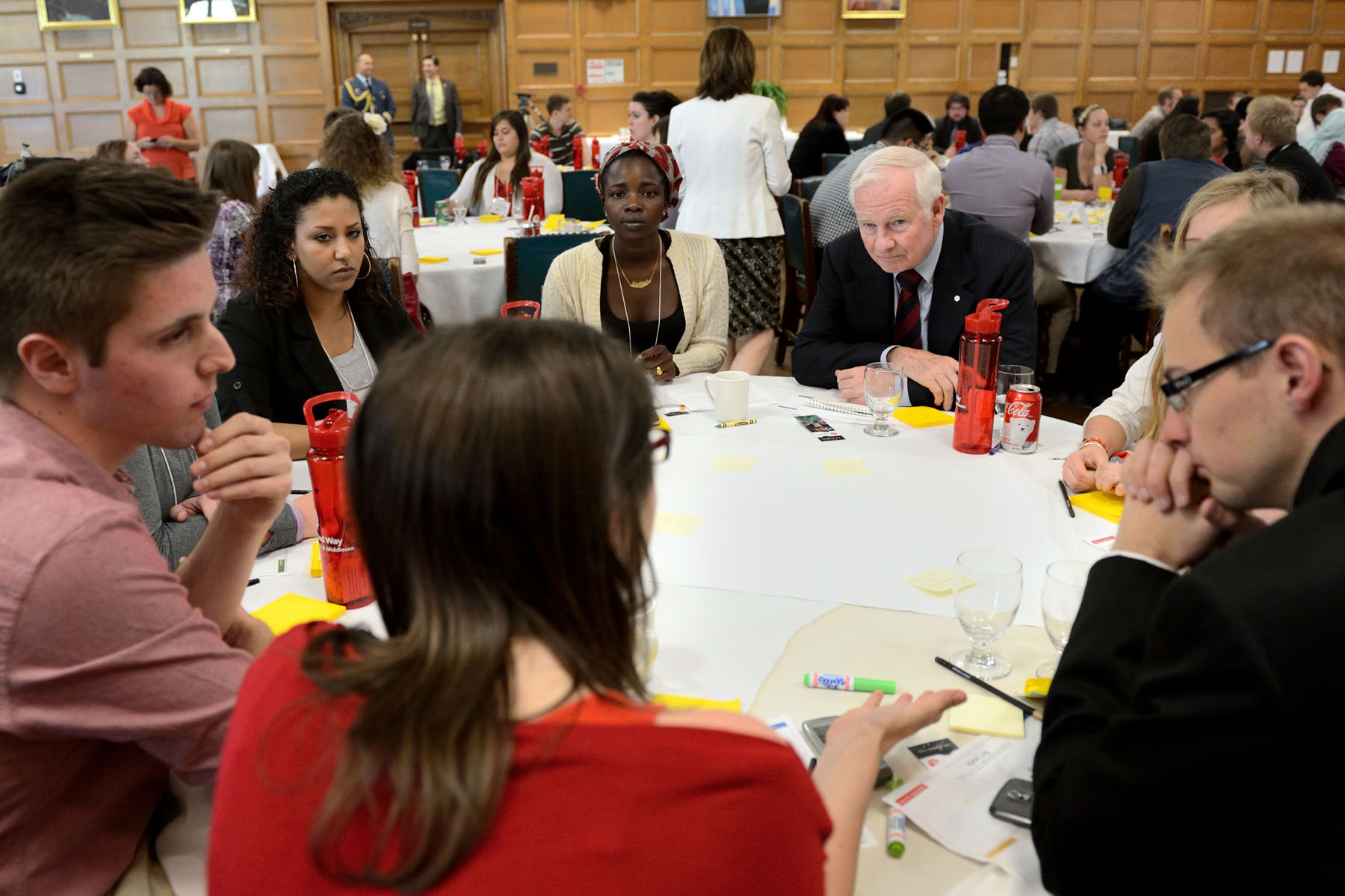 The Governor General joined 75 youths from the London area in a round table on youth 