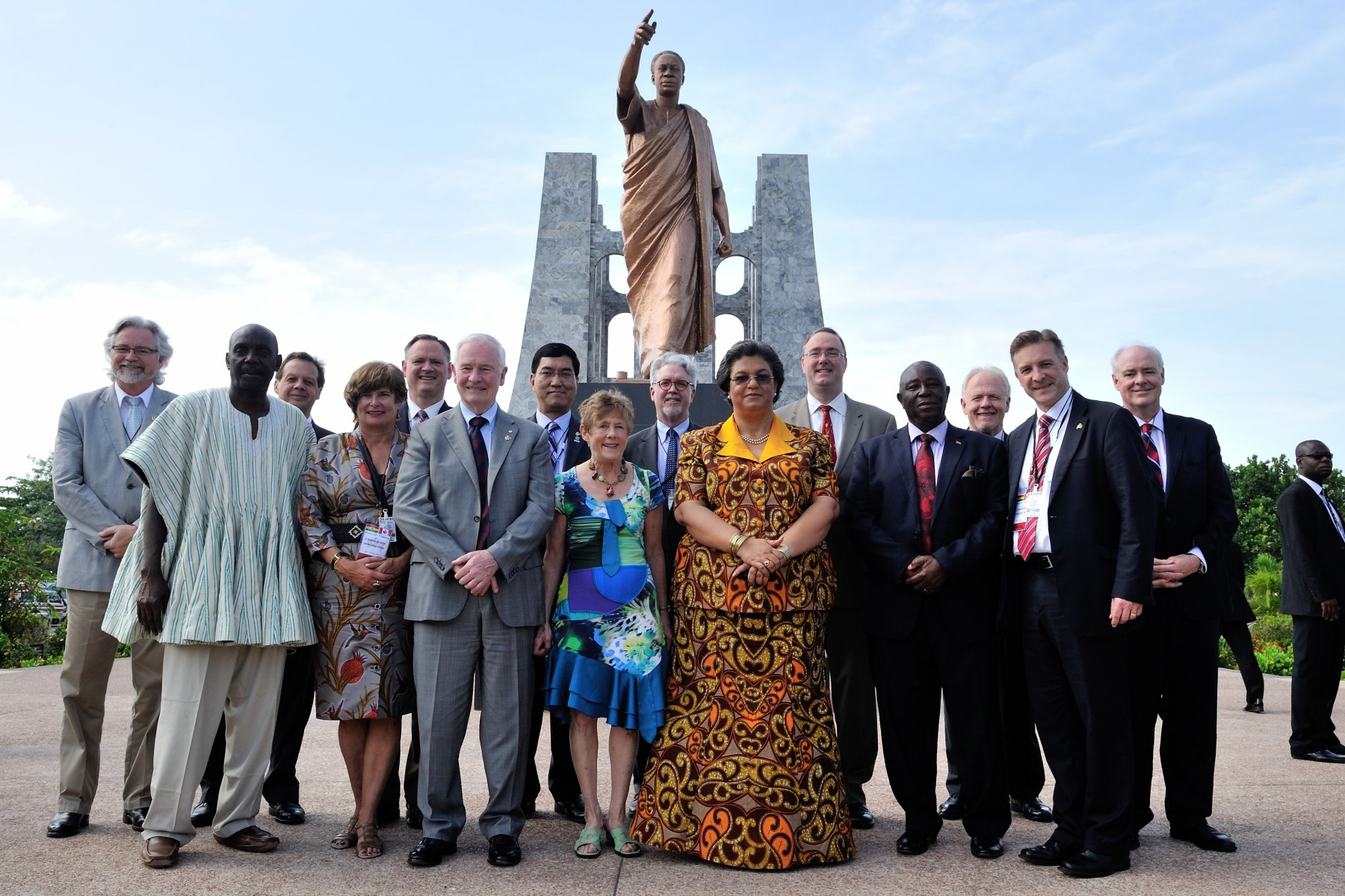 Along with Canadian delegates, Their Excellencies paid homage to the late Dr. Kwame Nkrumah, former president of the Republic of Ghana (1960-1966), who oversaw the nation's independence from British colonial rule on March 6, 1957, and became the first president of the country.