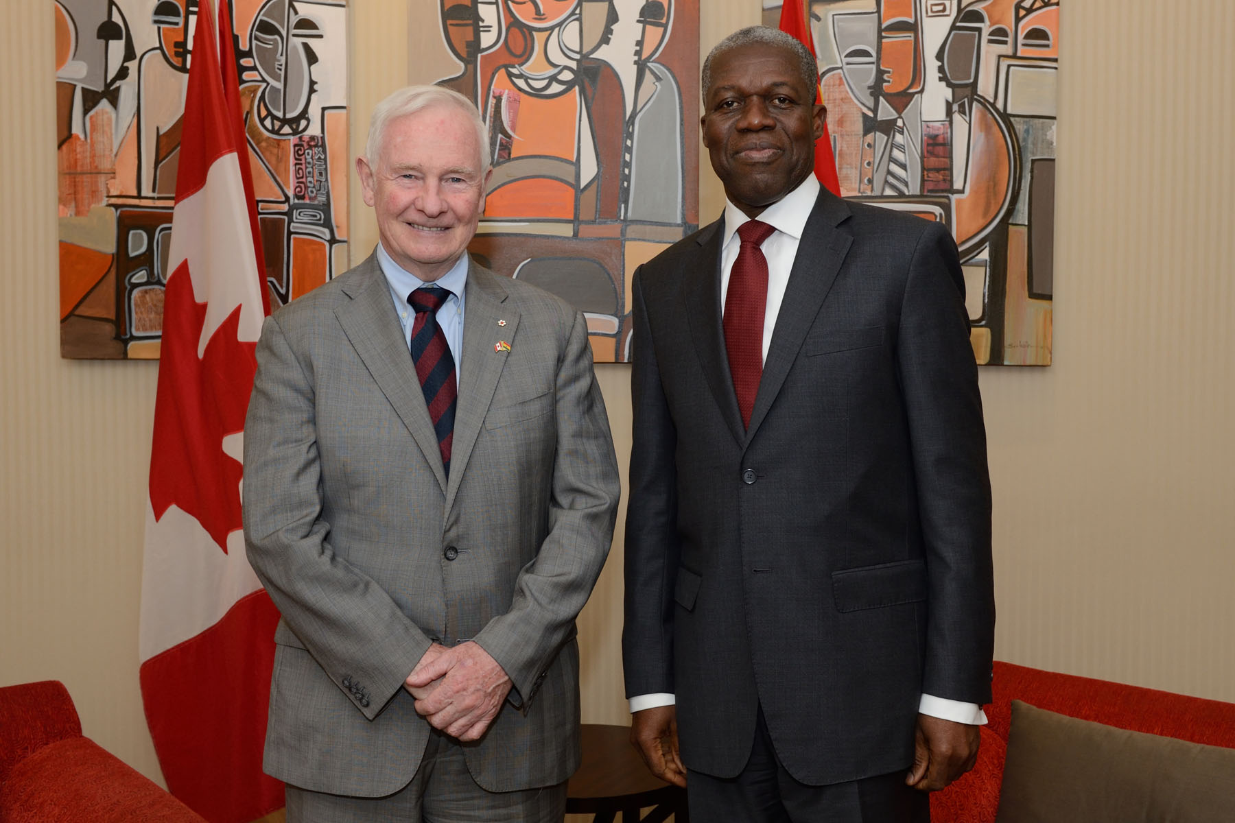 On this occasion, the Governor General met with His Excellency Kwesi Bekoe Amissah-Arthur, Vice-President of the Republic of Ghana.