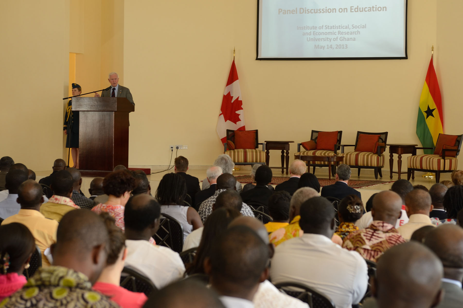 The Governor General delivered a speech on the intersection of education, innovation and the economy to academics, administrators, university students and NGOs that specialize in education and development.