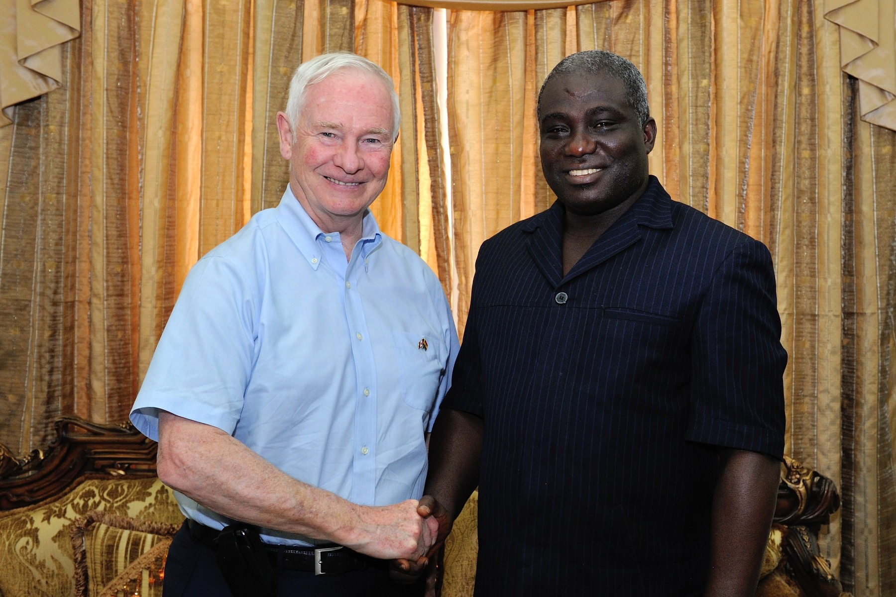 His Excellency and Mr. Opoku posed for a photo.