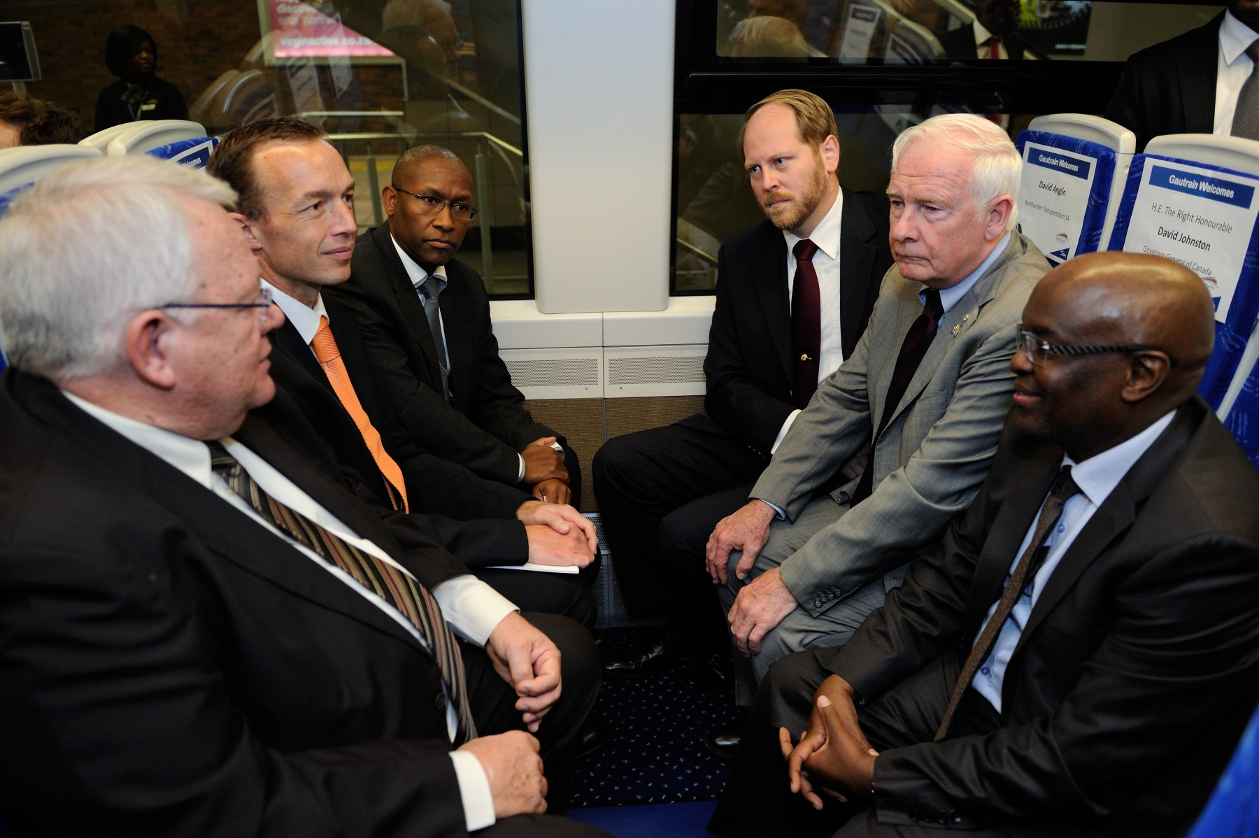 During his journey on the Gautrain, His Excellency had the opportunity to speak with representatives from Bombardier, Bombela and Gautrain Management Company.