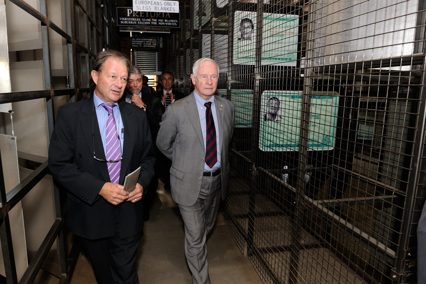 Later that morning,the Governor General visited the Apartheid Museum in Johannesburg. He was accompanied by Mr. Christopher Till, Director of the Apartheid Museum.