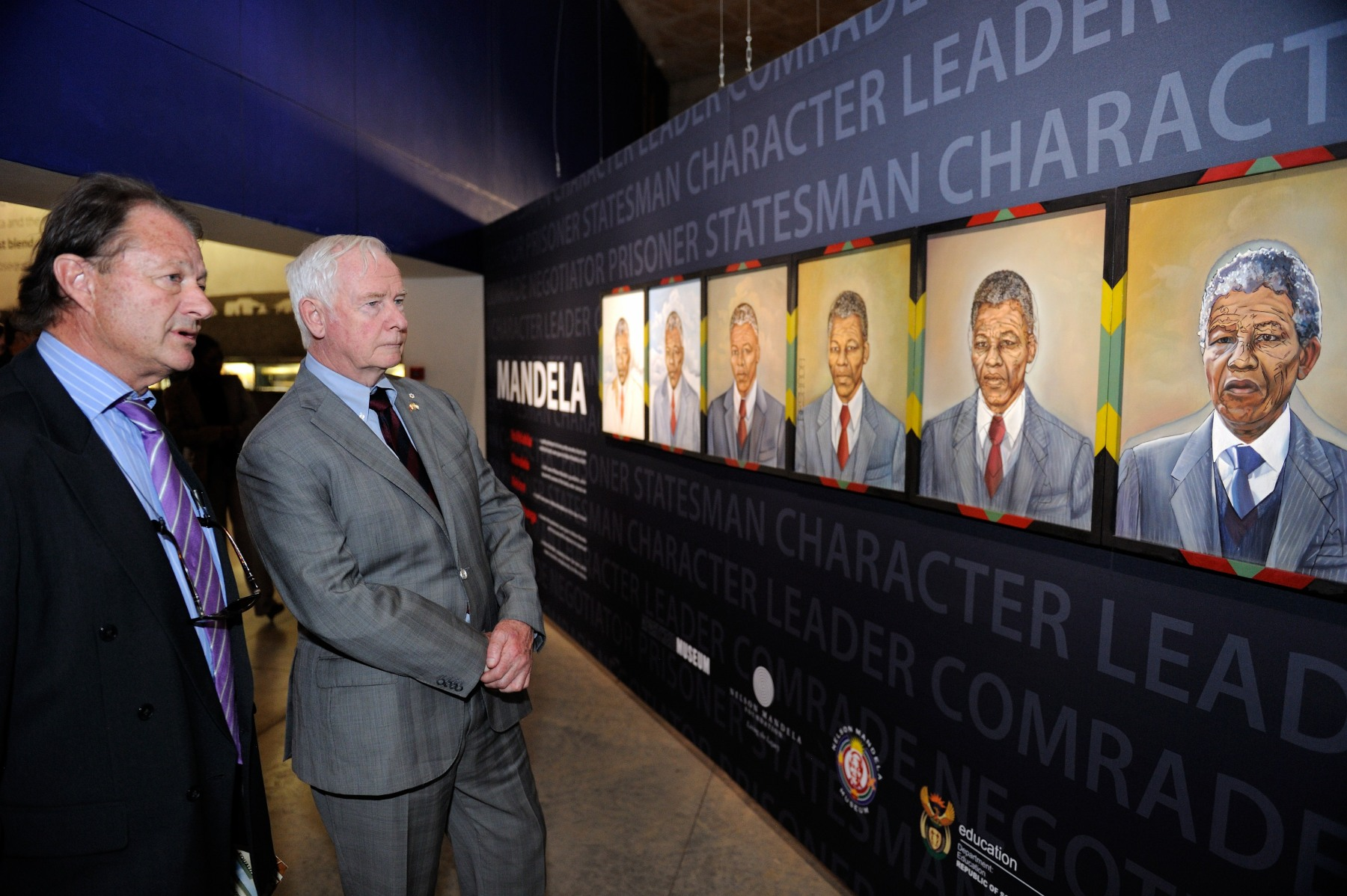 His Excellency visited an exhibition dedicated to Nelson Mandela, who was central to every stage of South Africa's epic struggle against apartheid, from formulating a new approach in the 1940s and leading the mass struggles of the 1950s to the formation of Umkhonto we Siswe in the early 1960s and his 27-year imprisonment.